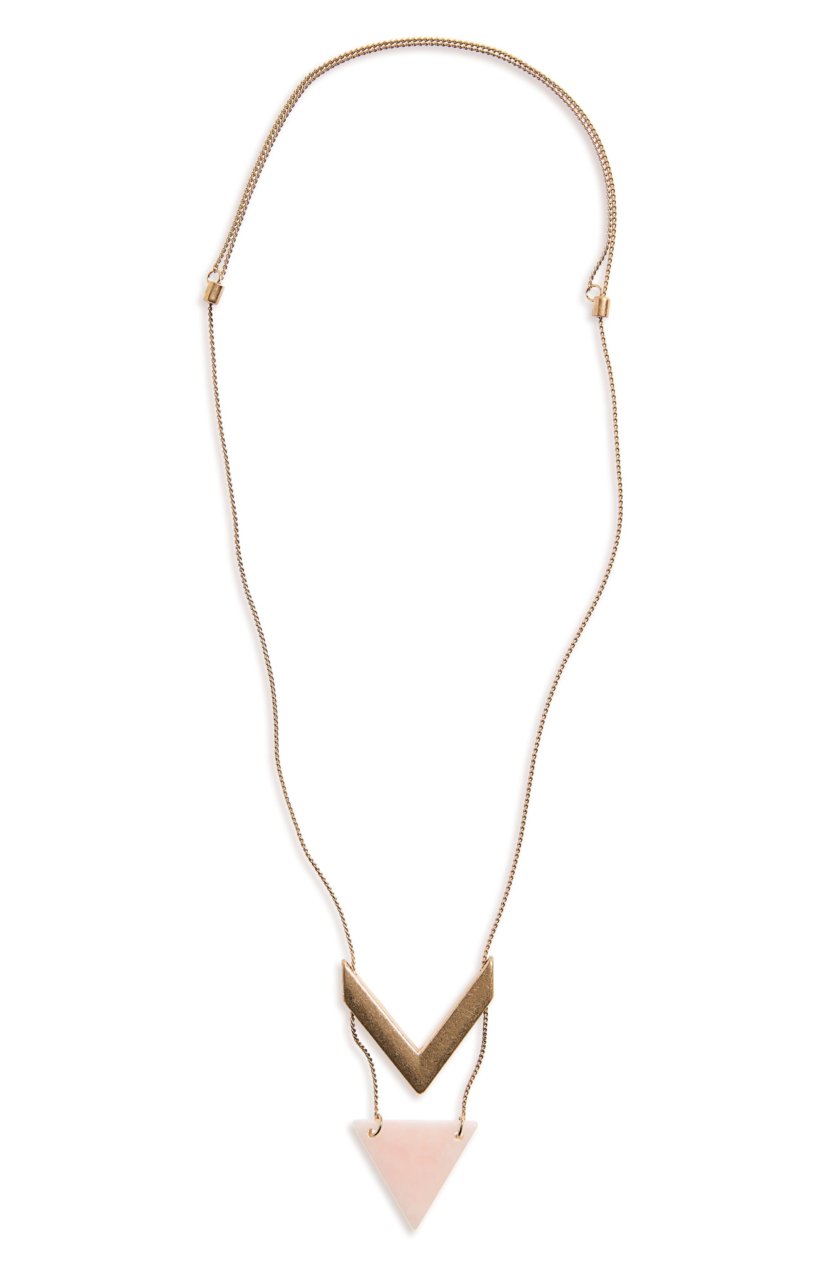 BP. Stone Chevron Pendant Necklace