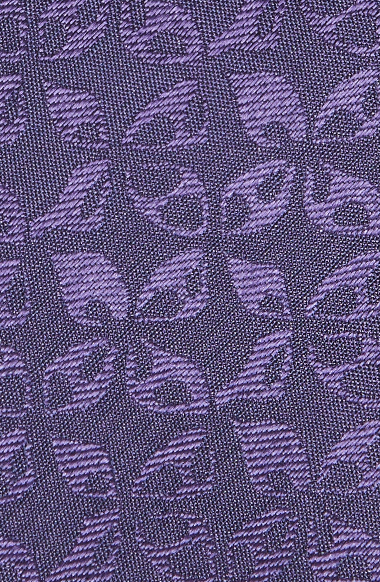 Floral Silk Tie,                             Alternate thumbnail 2, color,                             Purple