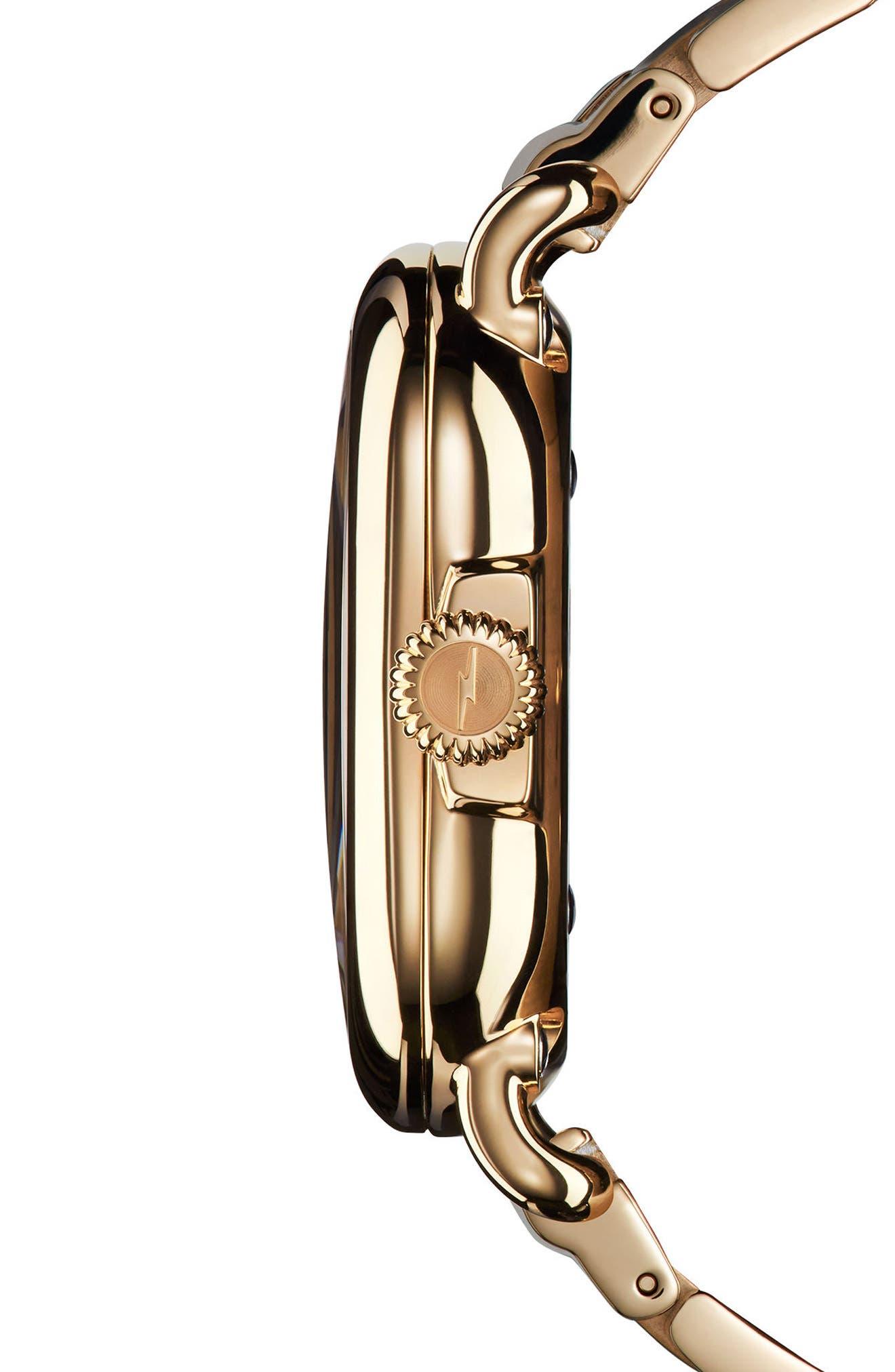 The Guardian Bracelet Watch, 36mm,                             Alternate thumbnail 3, color,                             Gold/ White/ Gold