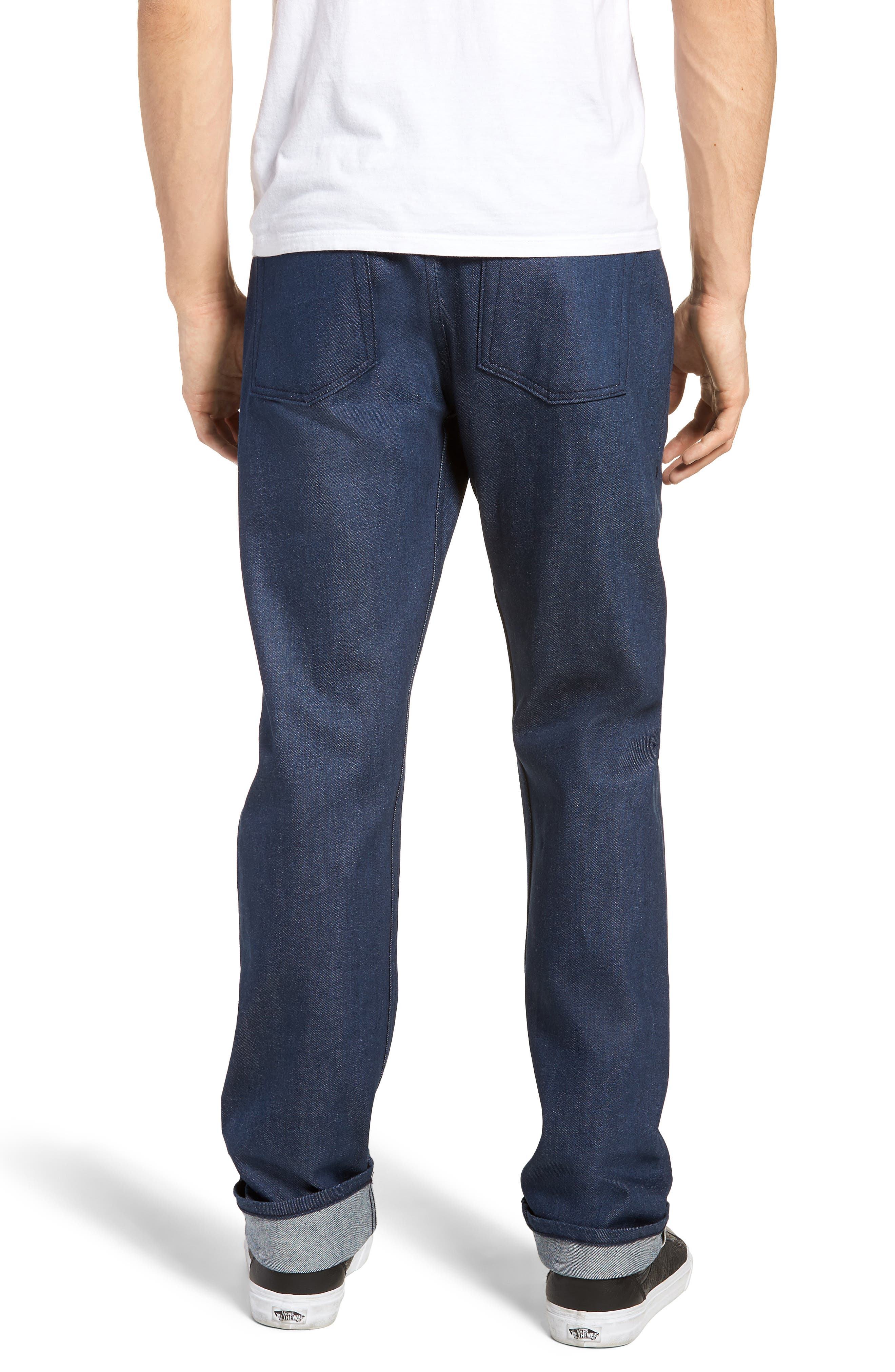 Weird Guy Slim Fit Jeans,                             Alternate thumbnail 2, color,                             Workmans Blue