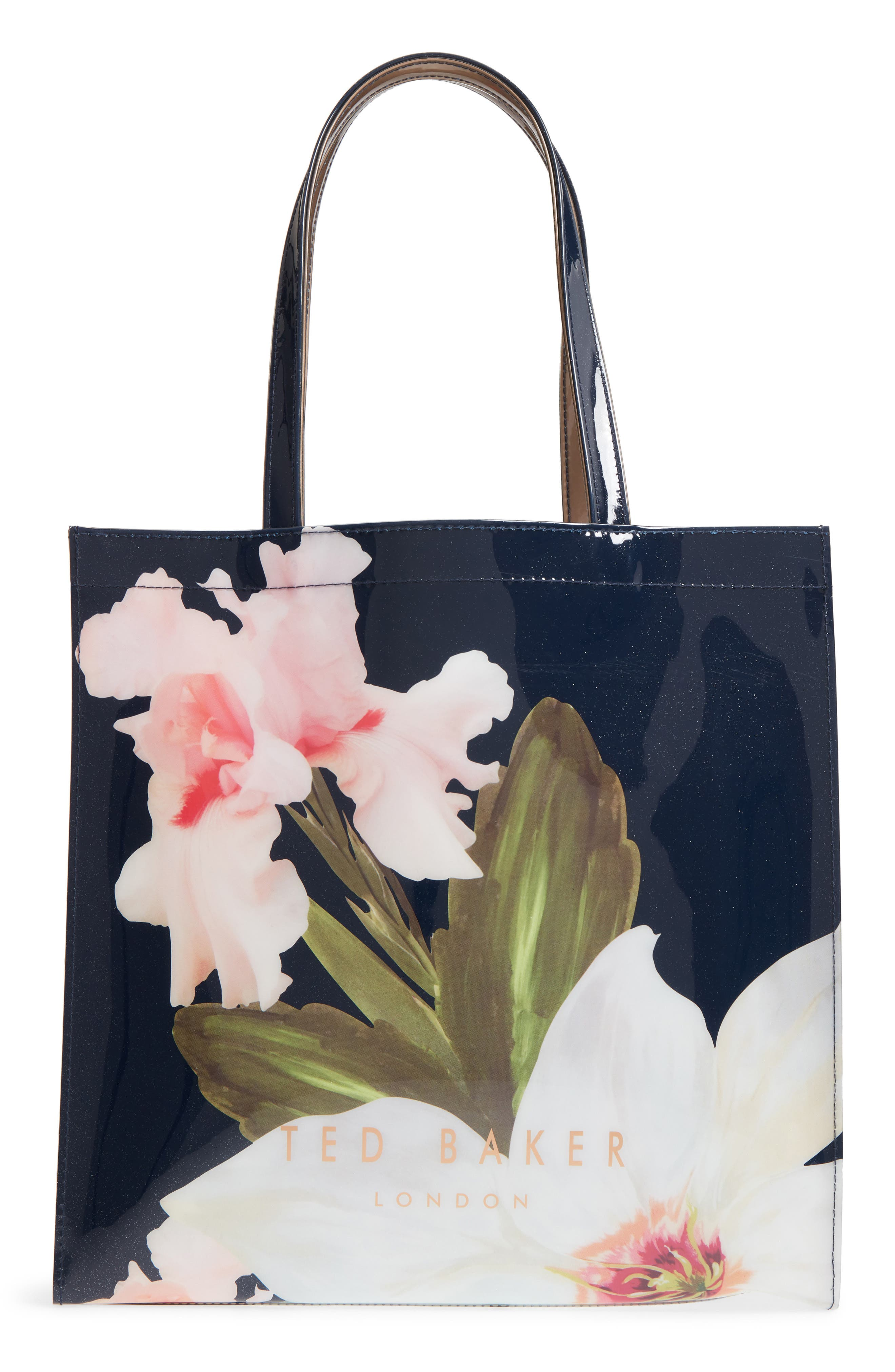 Hermcon Chatsworth Bloom Large Icon Tote,                             Main thumbnail 1, color,                             Navy