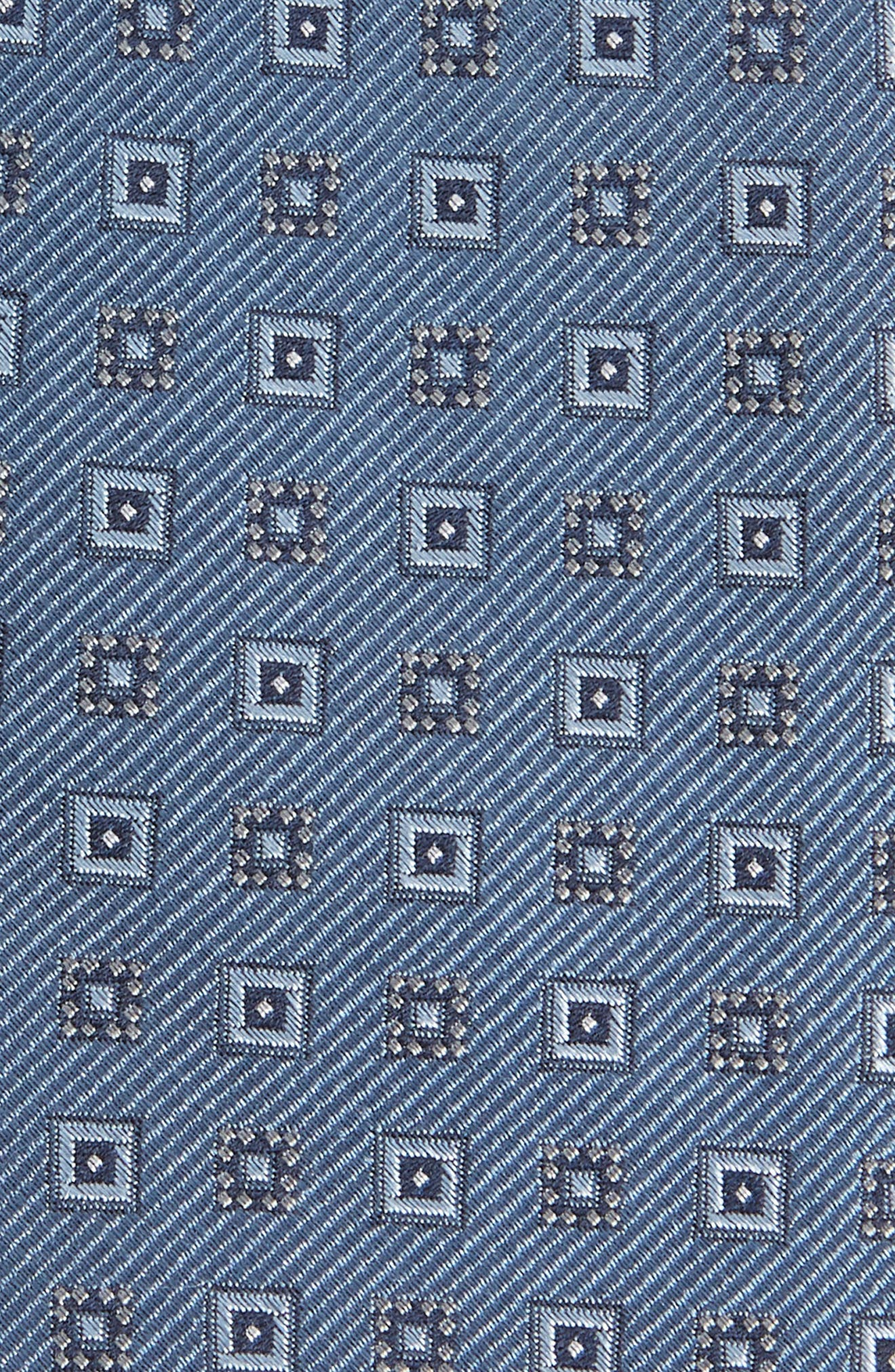 Solitaire Geometric Silk Tie,                             Alternate thumbnail 2, color,                             Slate Blue