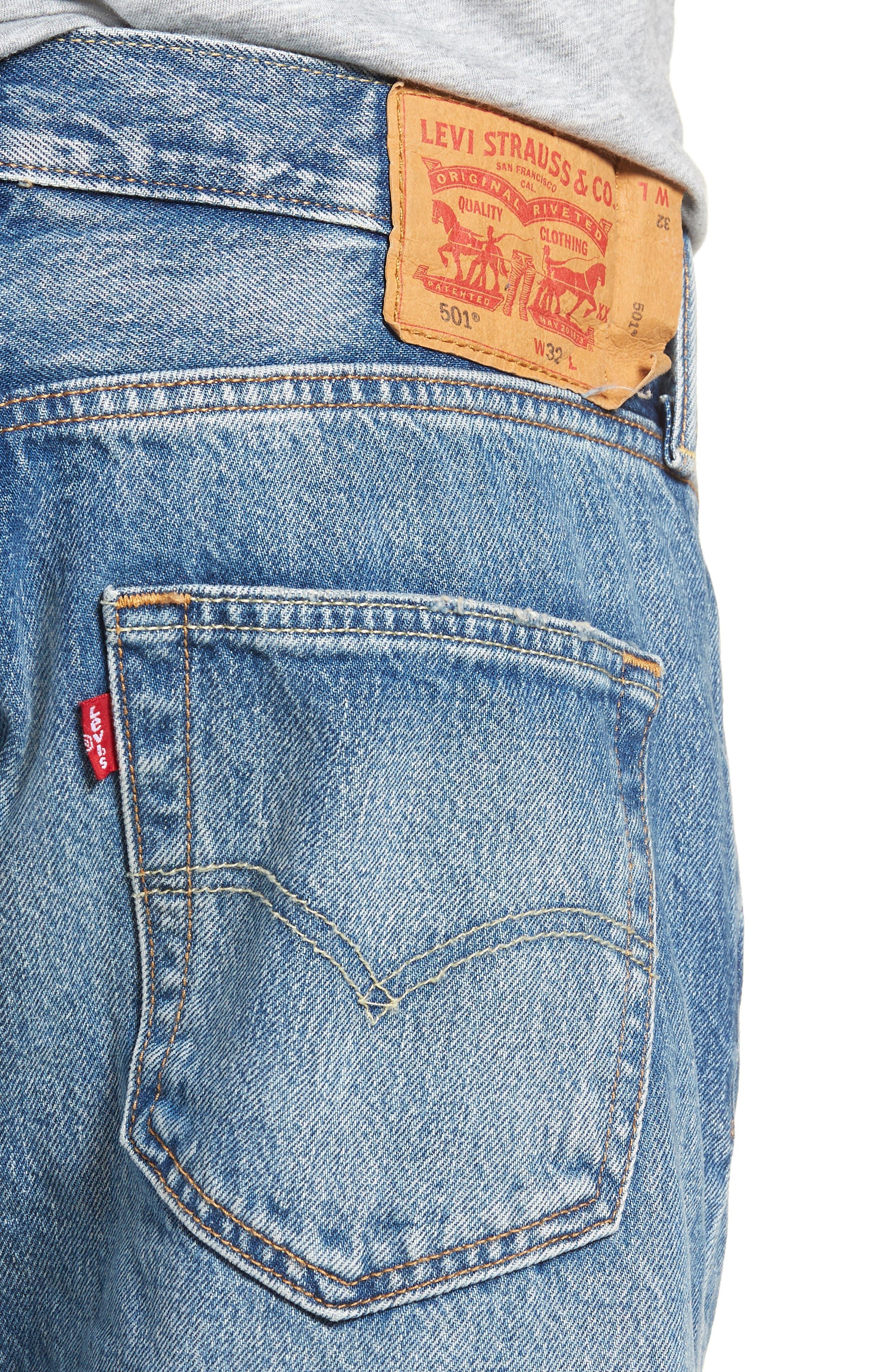 501<sup>®</sup> Cutoff Denim Shorts,                             Alternate thumbnail 4, color,                             Kauai Dx