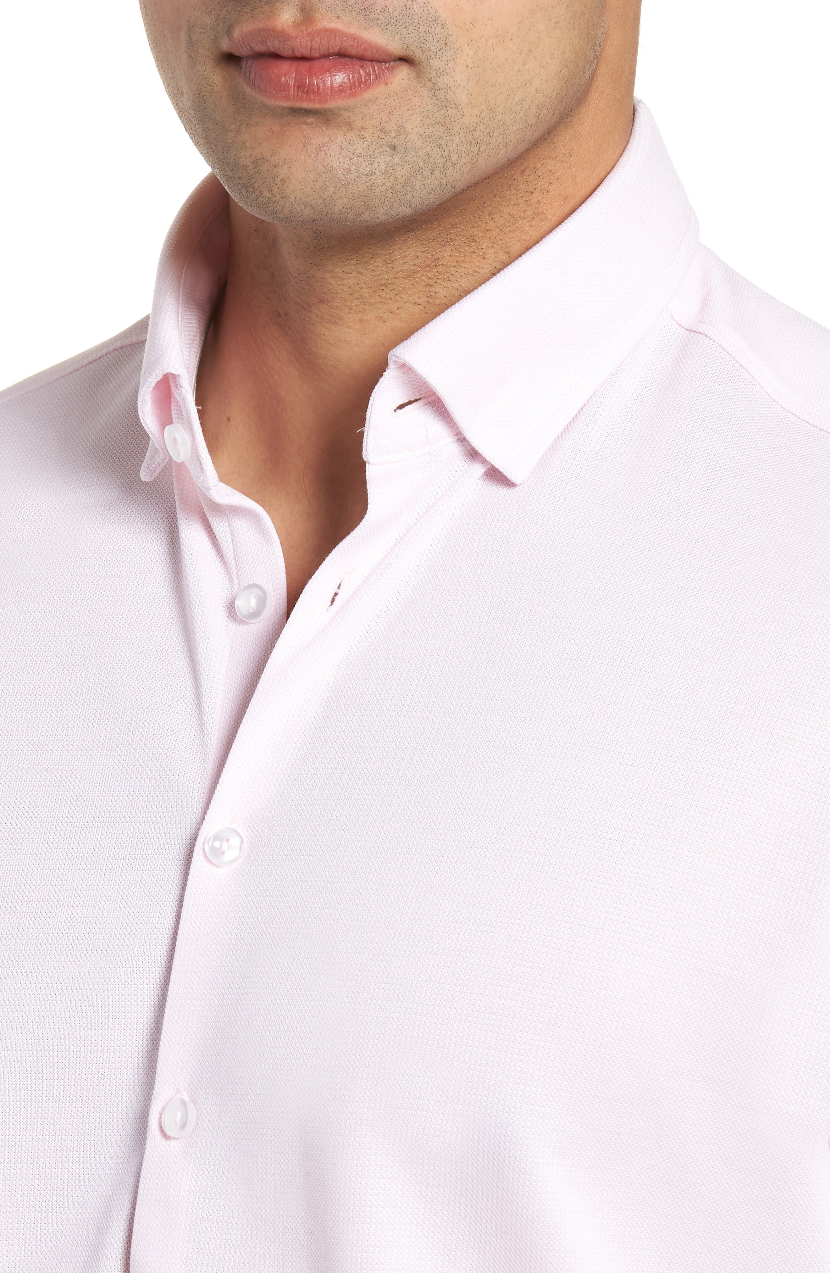 Knit Sport Shirt,                             Alternate thumbnail 4, color,                             Pink