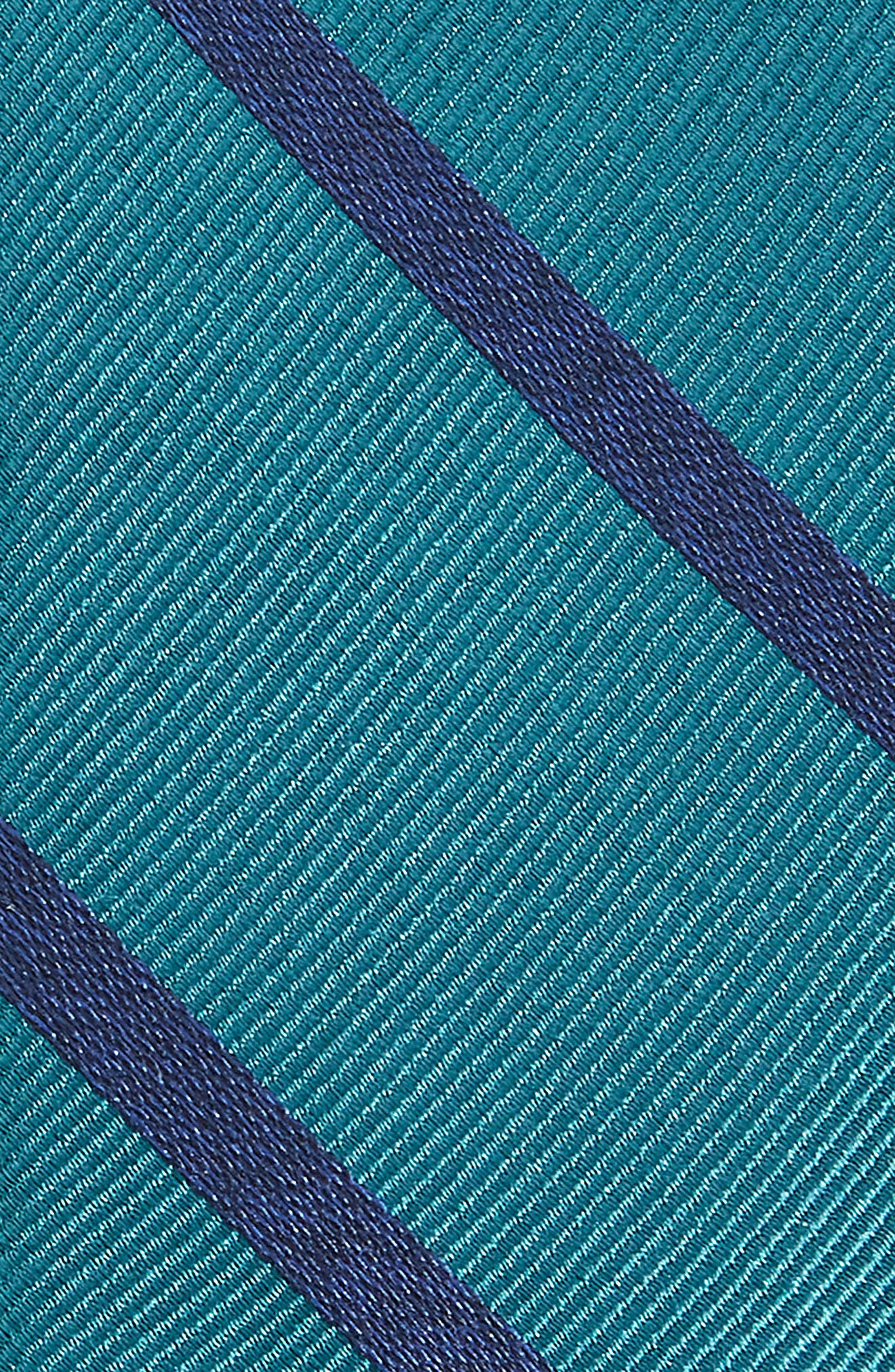 Wheelhouse Stripe Silk Skinny Tie,                             Alternate thumbnail 2, color,                             Teal