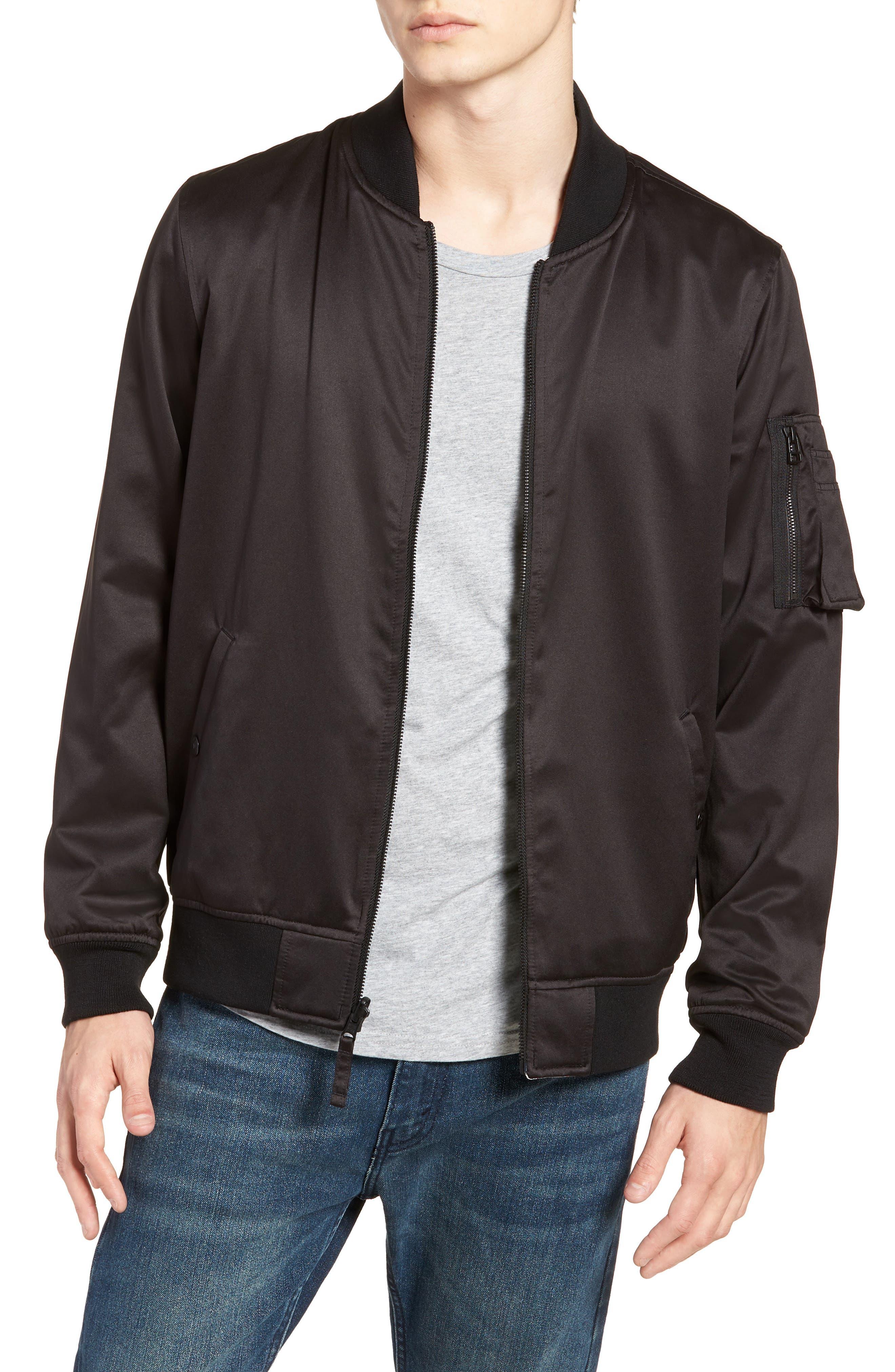 Reversible MA-1 Jacket,                             Main thumbnail 1, color,                             Black