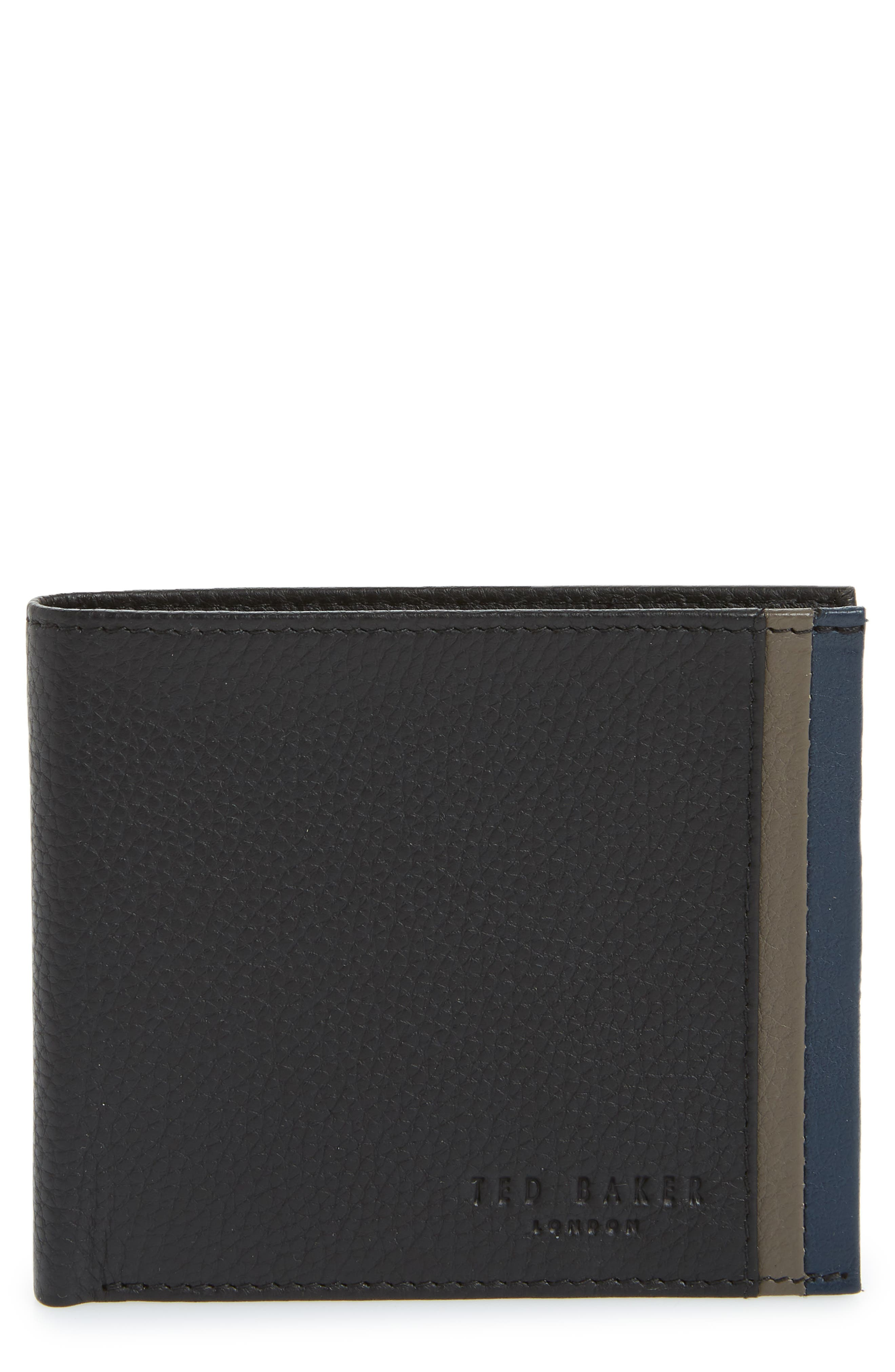 Main Image - Ted Baker London Snapper Colored Leather Wallet
