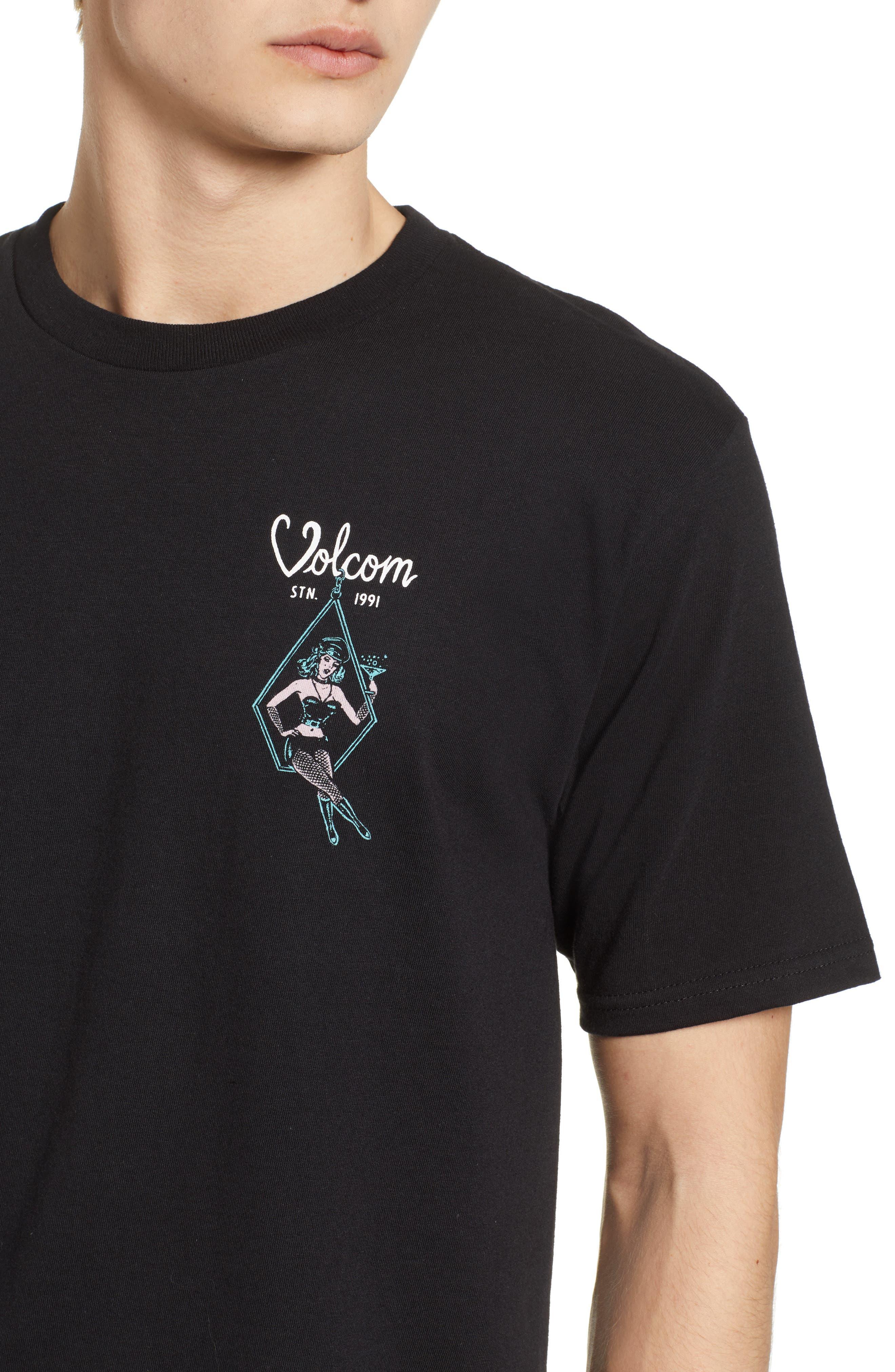 Swingers Saloon T-Shirt,                             Alternate thumbnail 4, color,                             Black