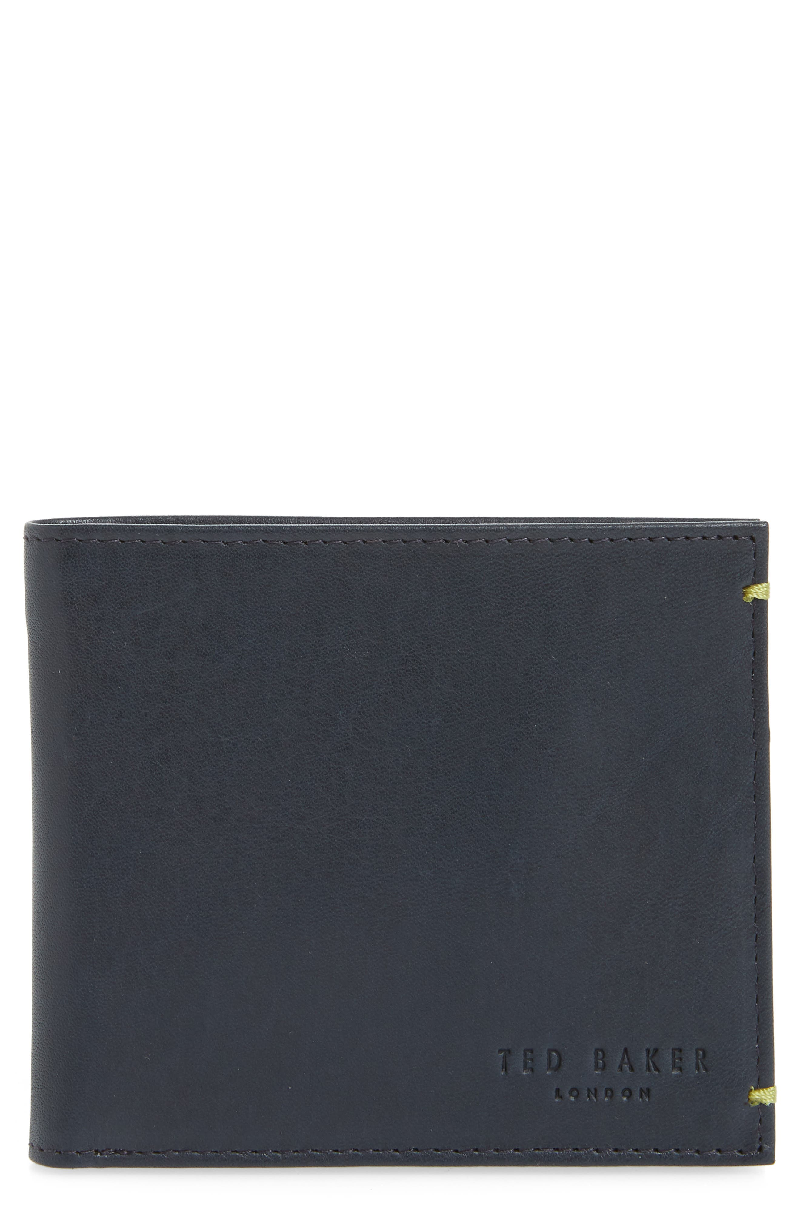 Rester Leather Bifold Wallet,                             Main thumbnail 1, color,                             Navy