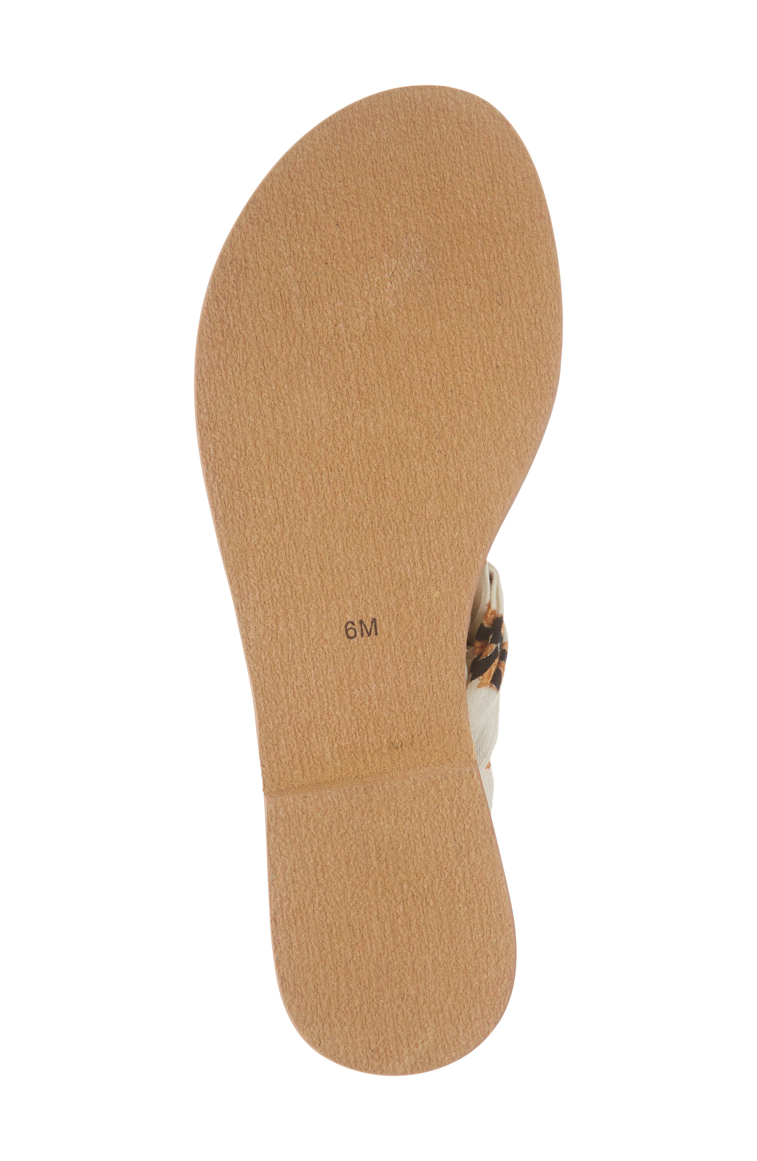 Amuse Society x Matisse Oceano Lace-Up Sandal,                             Alternate thumbnail 6, color,                             Natural Fabric