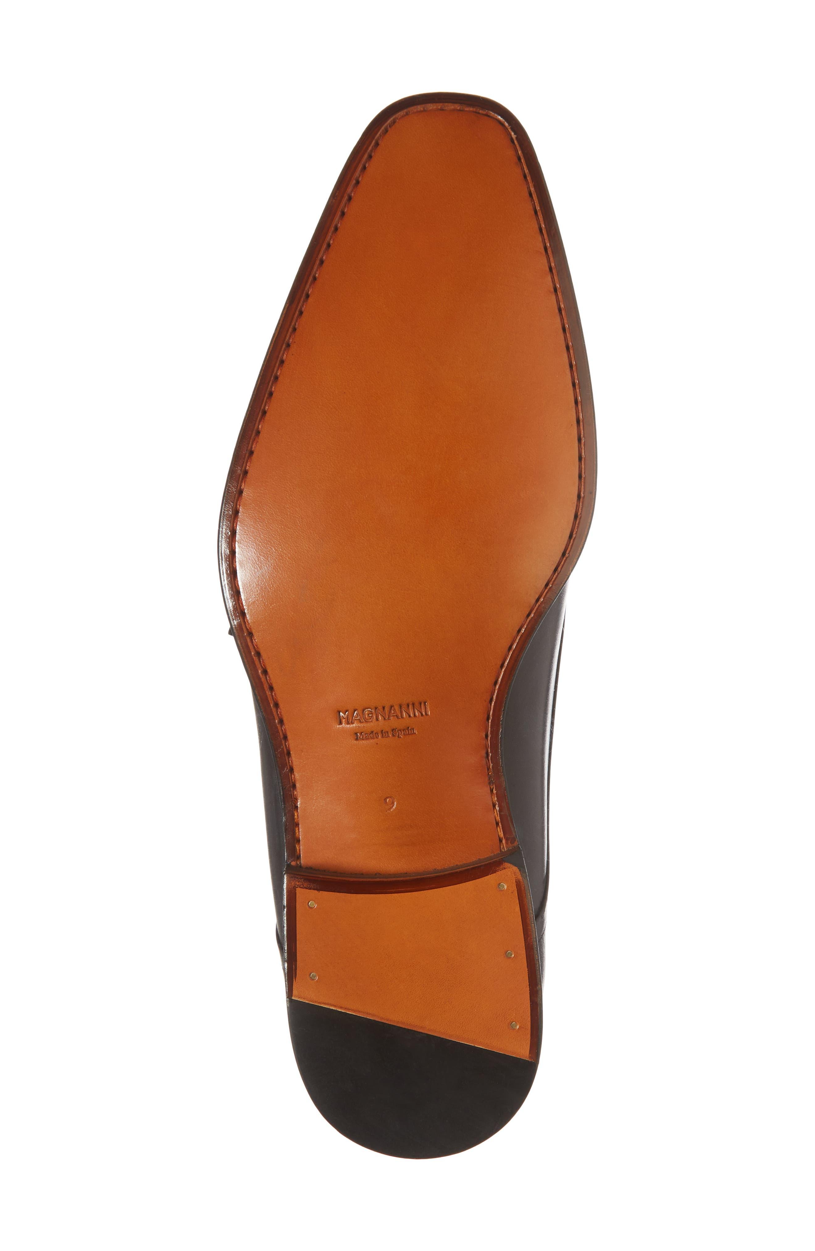 Silvio Double Monk Strap Shoe,                             Alternate thumbnail 6, color,                             Black Leather