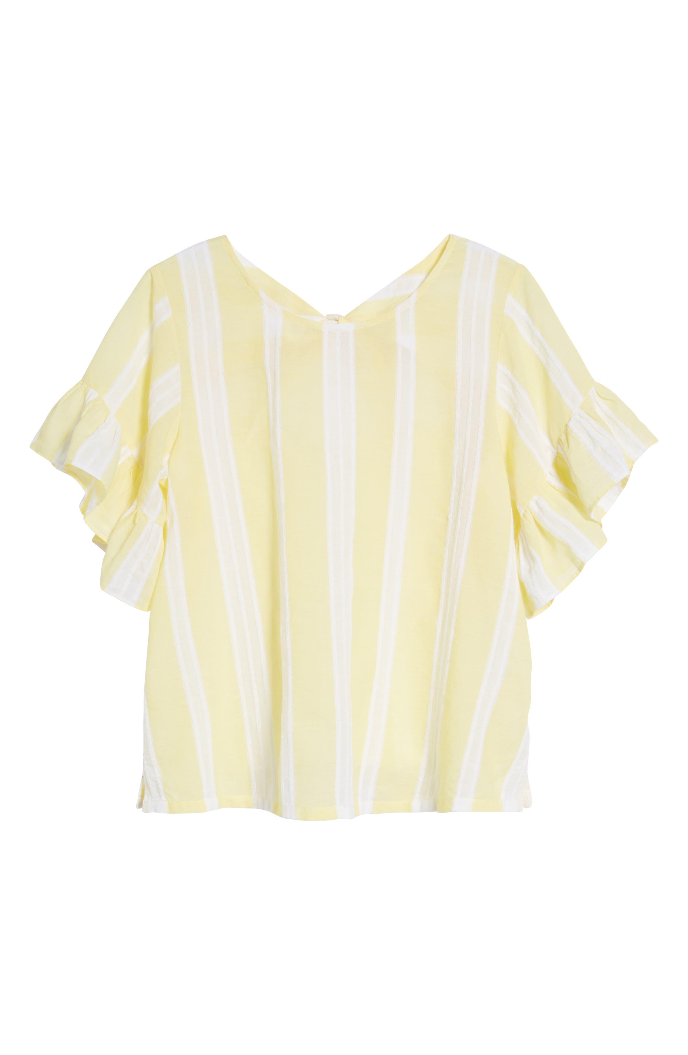 Stripe Tie Back Top,                             Alternate thumbnail 7, color,                             Yellow Glow Lena Stripe