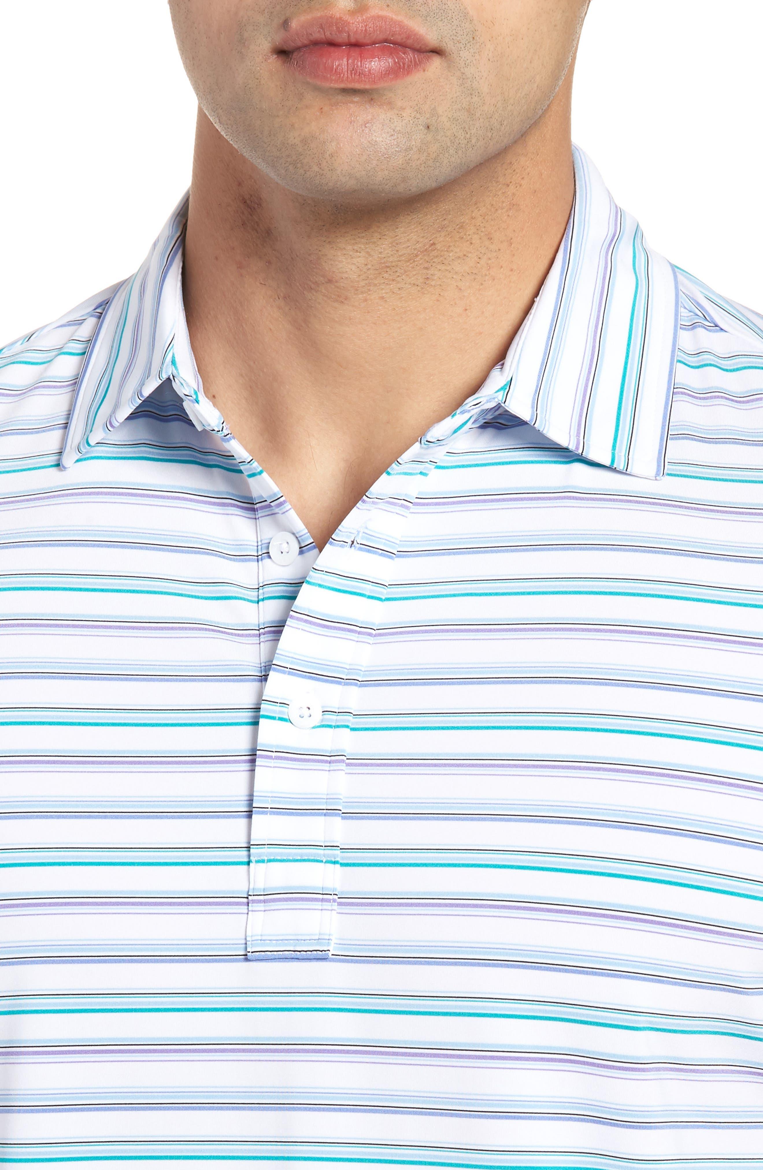 Knit Polo,                             Alternate thumbnail 4, color,                             White