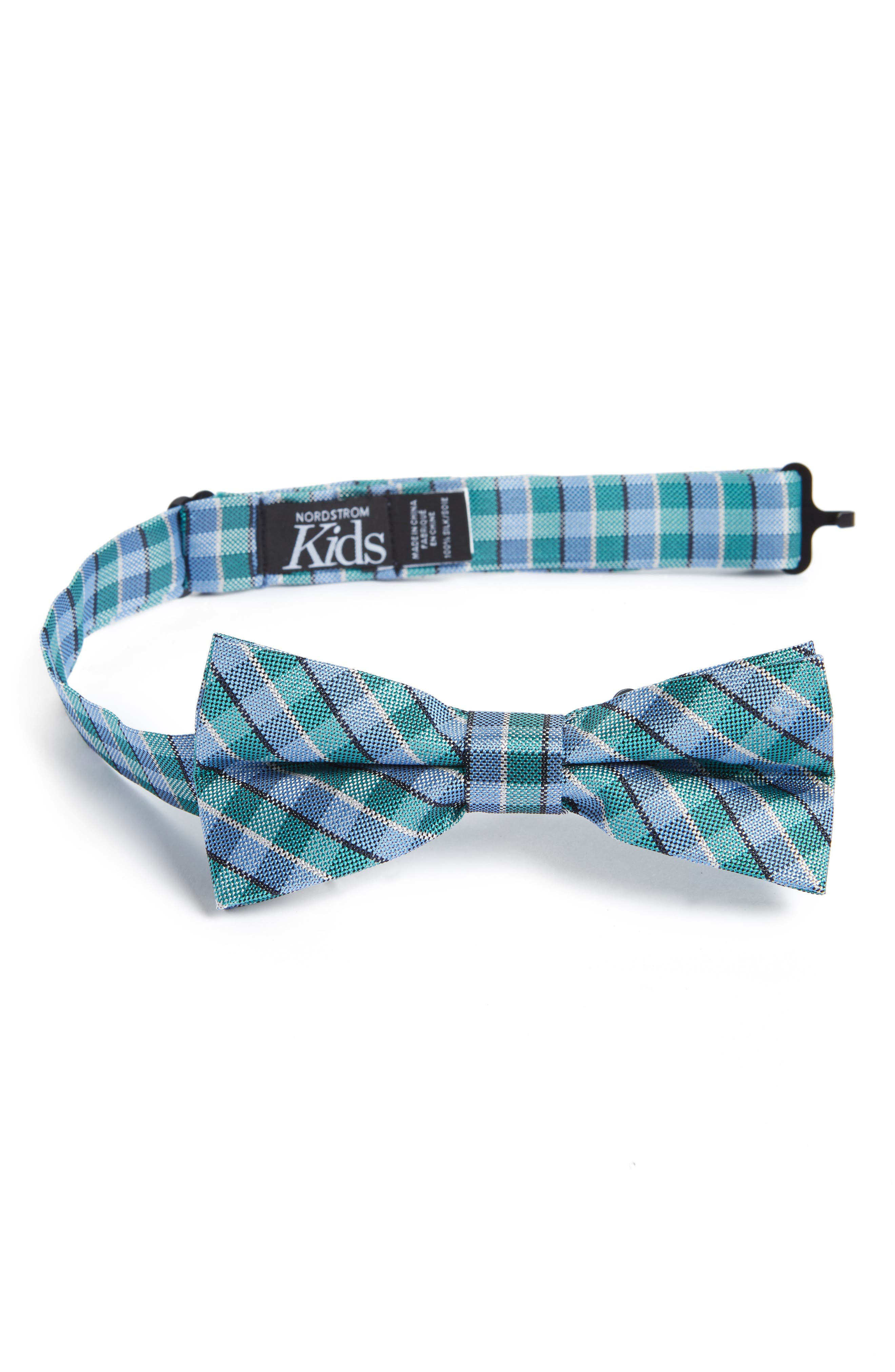 Nordstrom Circus Check Silk Bow Tie (Big Boys)
