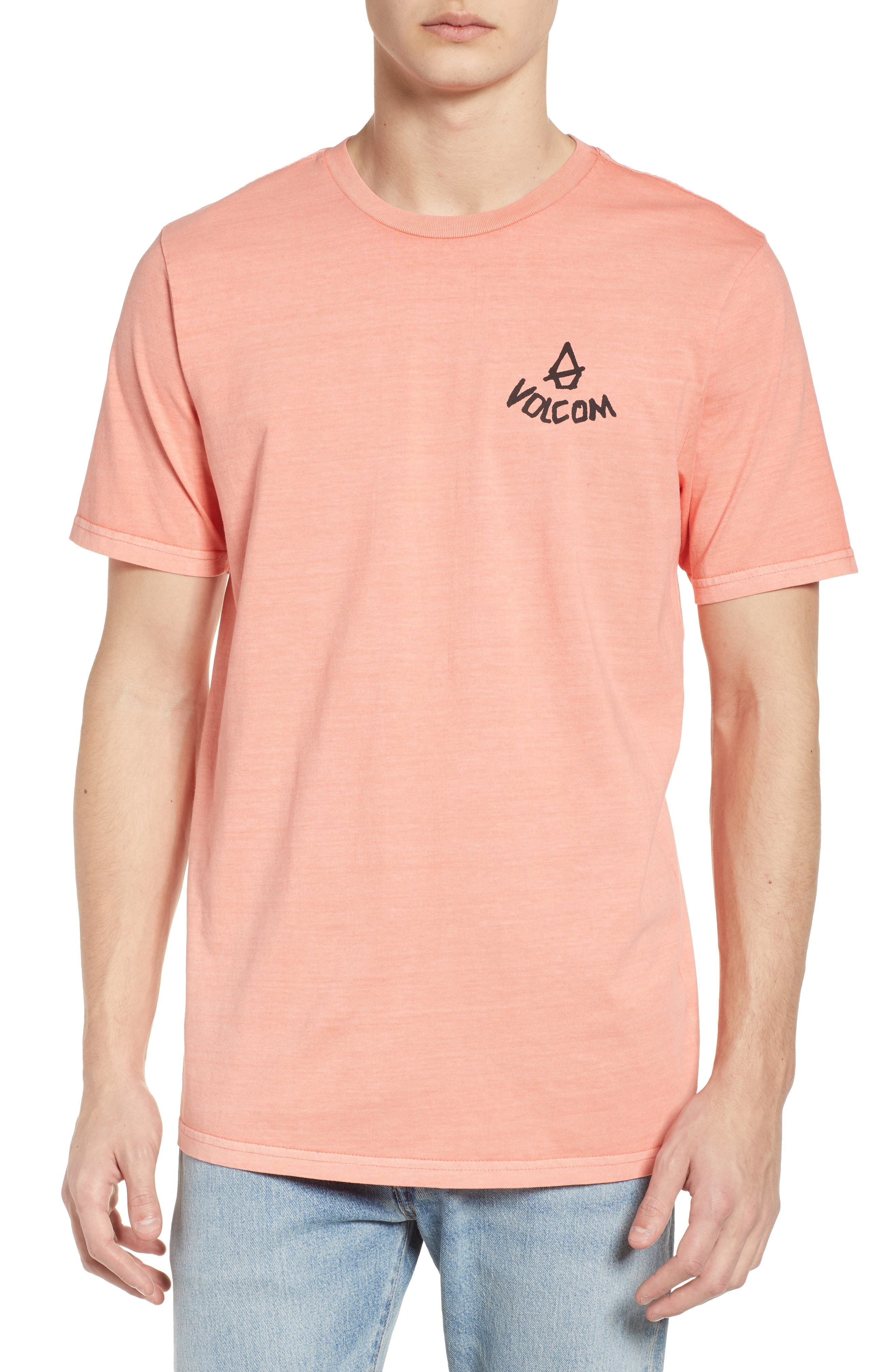 Chill Face Graphic T-Shirt,                             Main thumbnail 1, color,                             Salmon