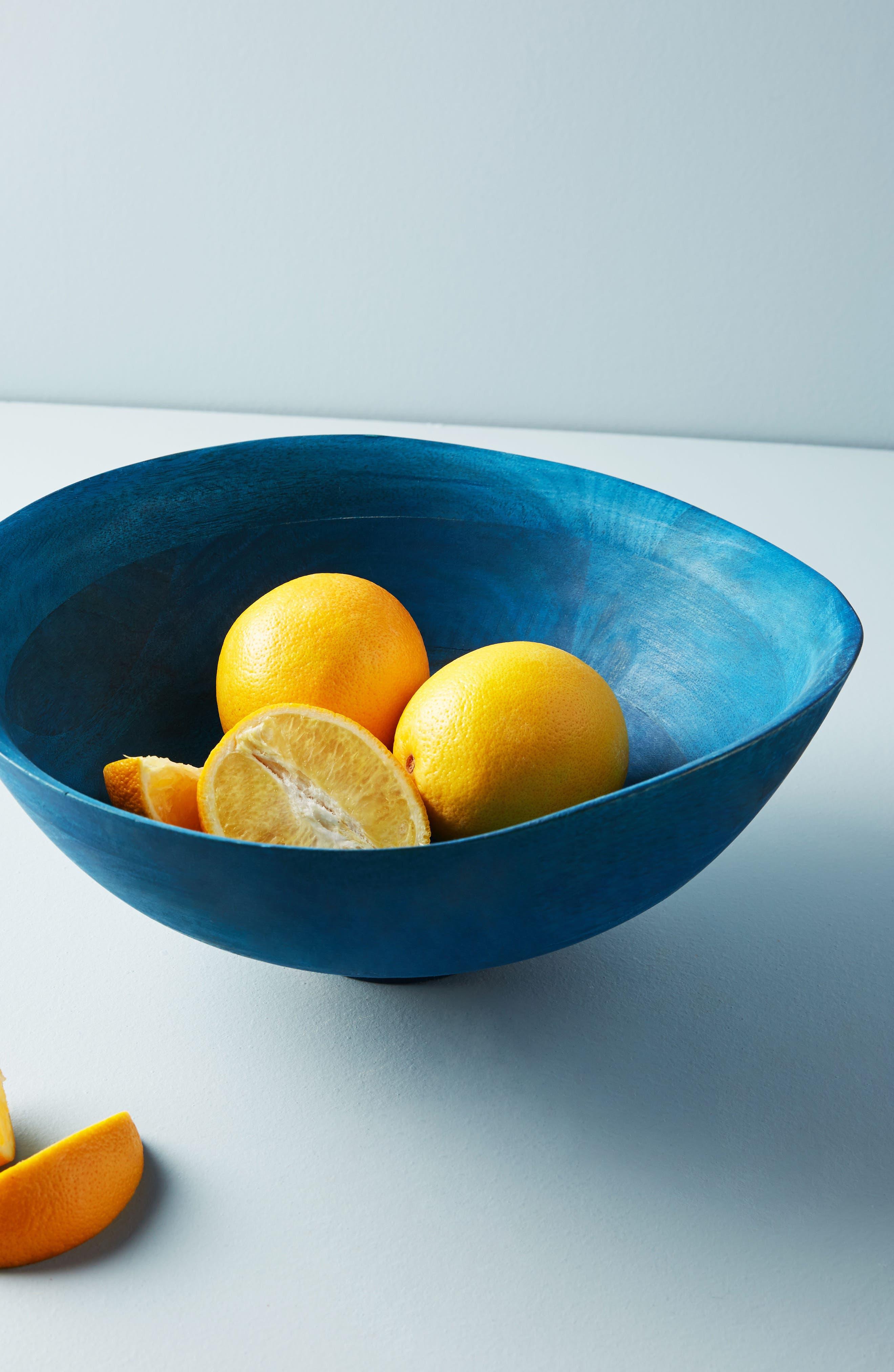 Hearthside Wood Serving Bowl,                         Main,                         color, Sapphire