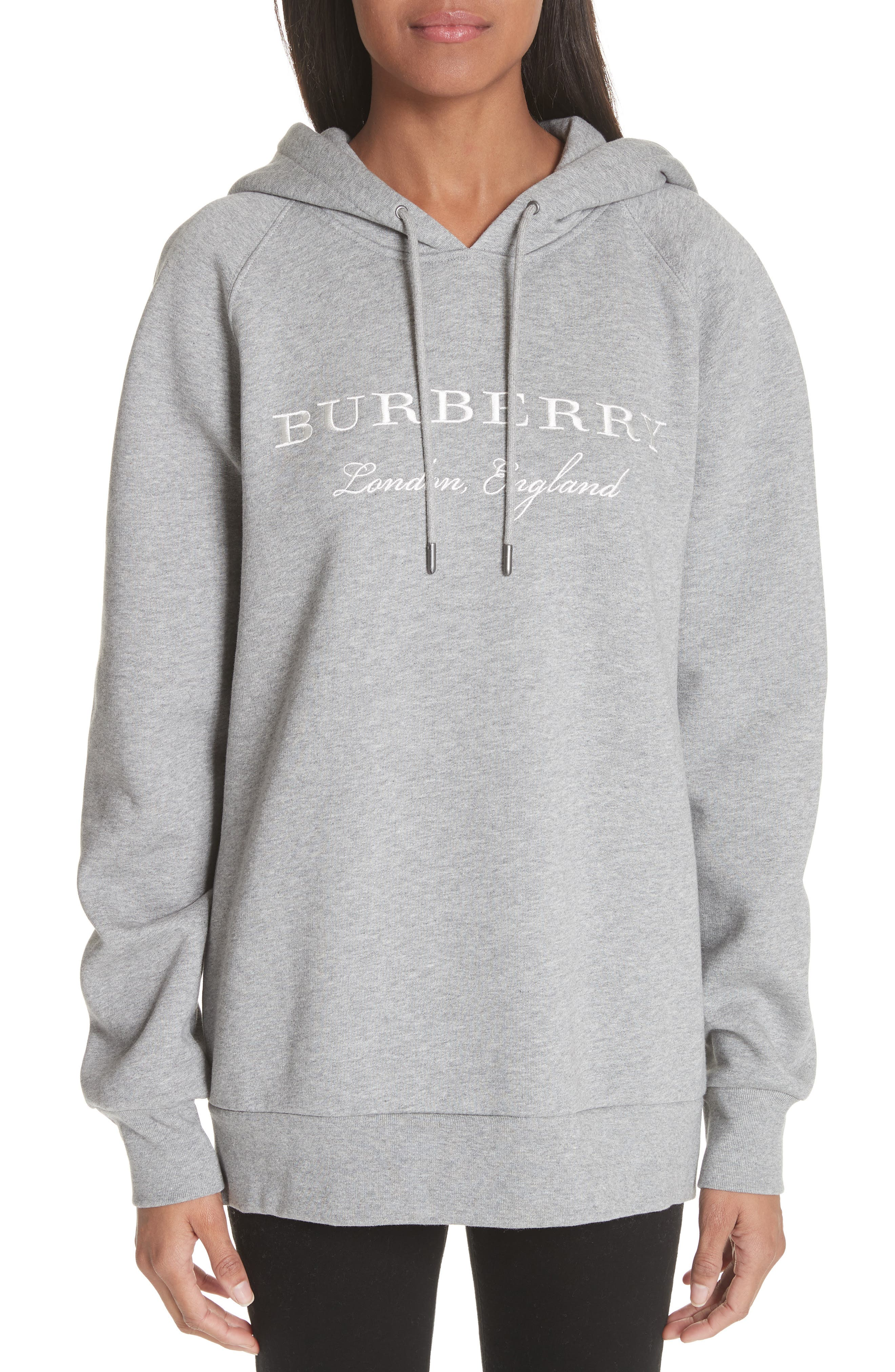 Burberry Krayford Embroidered Cotton Blend Hoodie