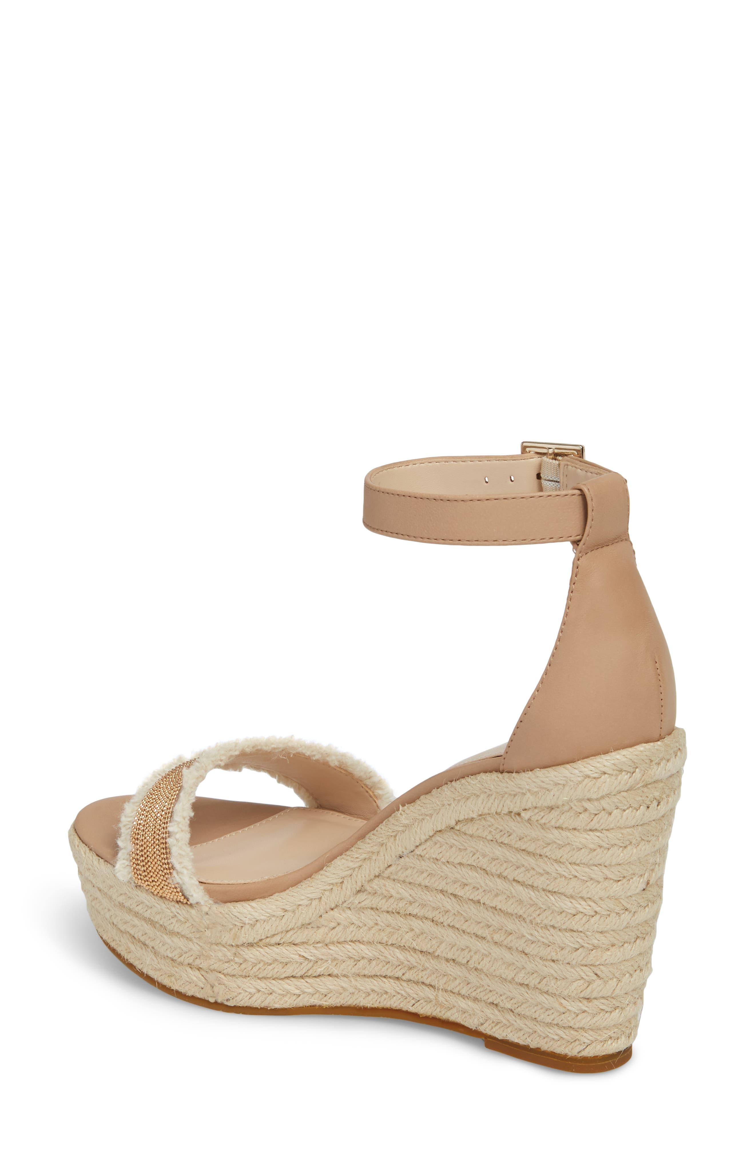 Radley Espadrille Wedge Sandal,                             Alternate thumbnail 2, color,                             Sand Leather