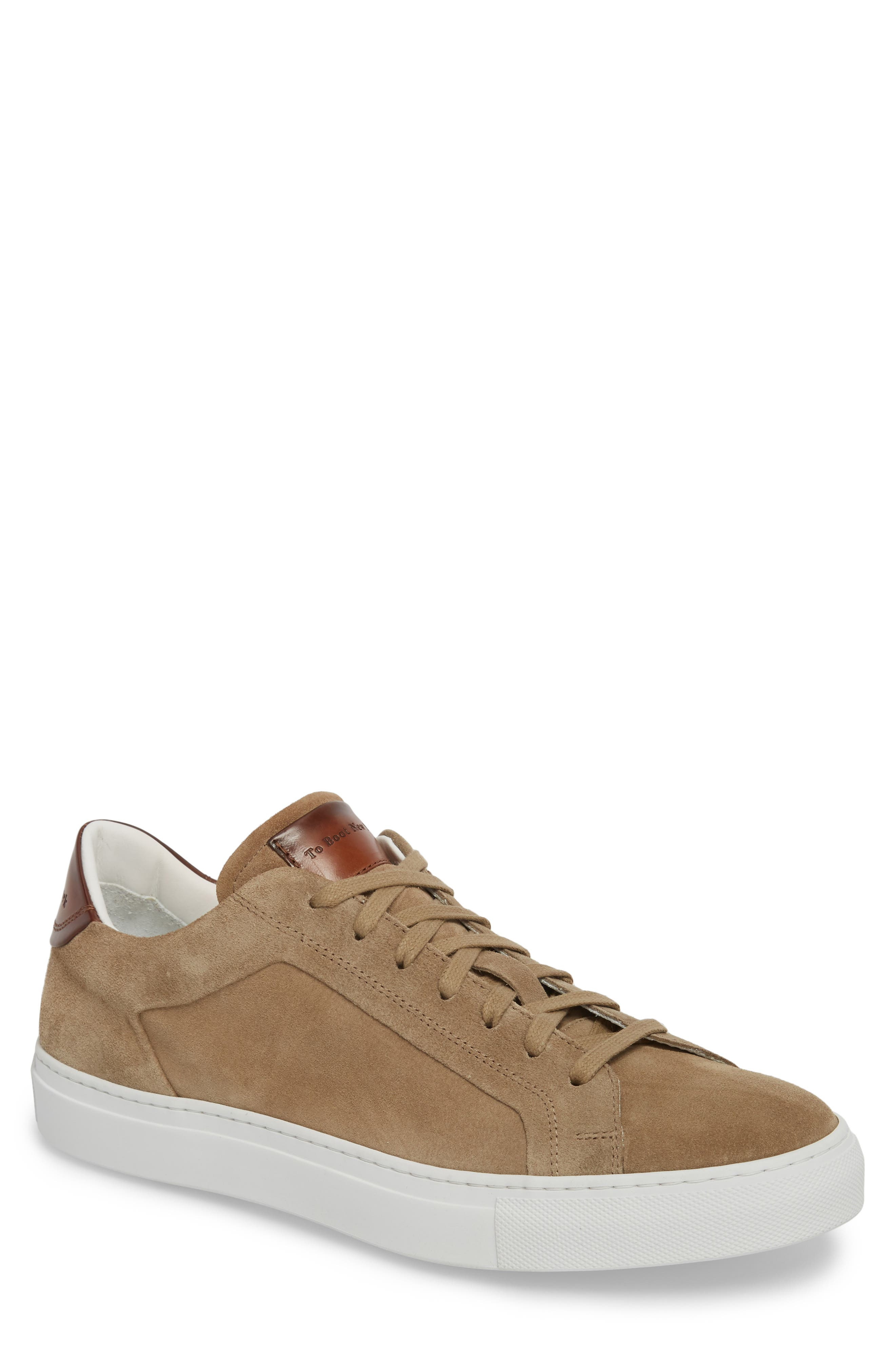 Britt Low Top Sneaker,                             Main thumbnail 1, color,                             Tan Suede