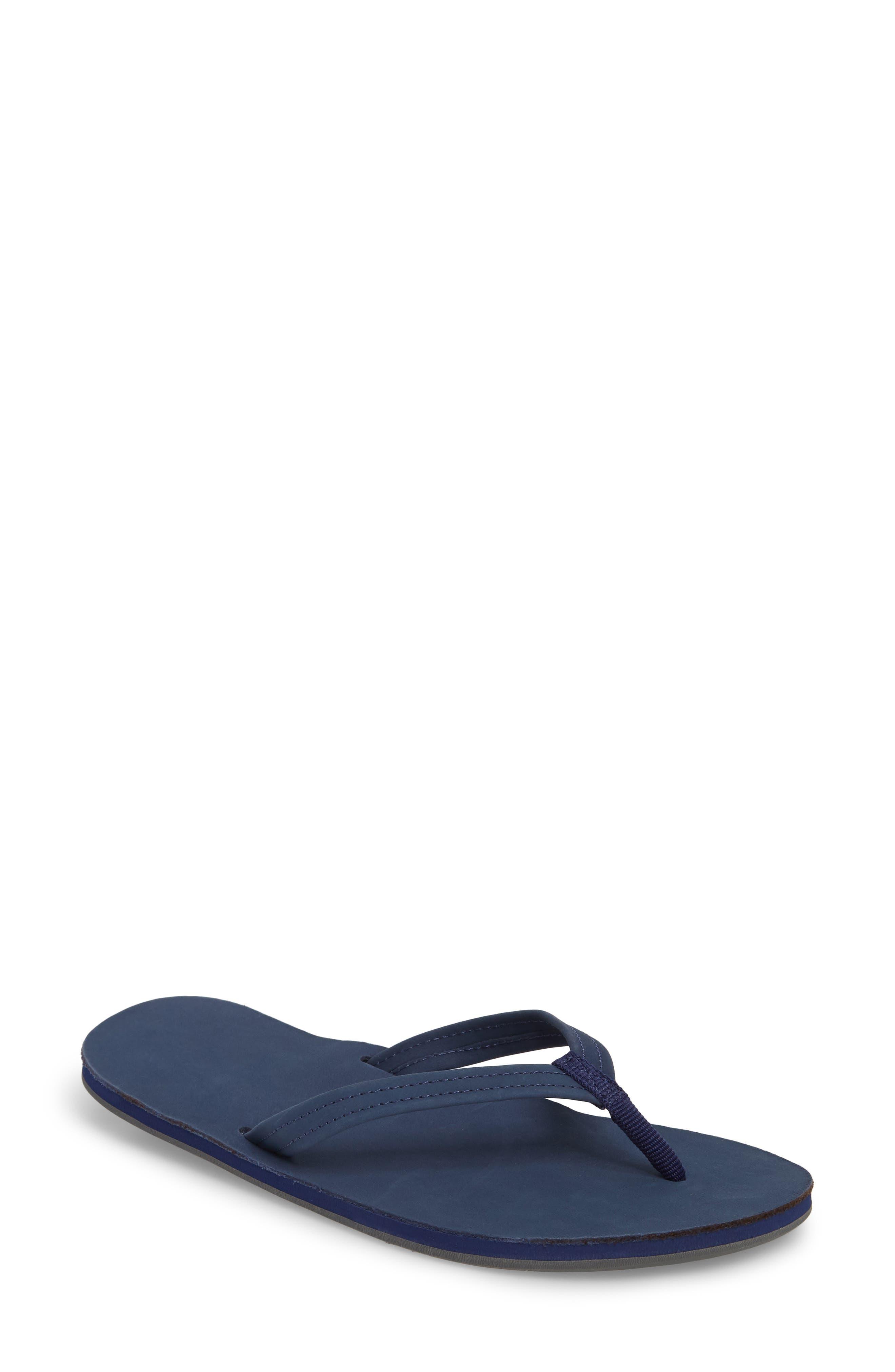 Fields Flip Flop,                         Main,                         color, Navy Peach Gray