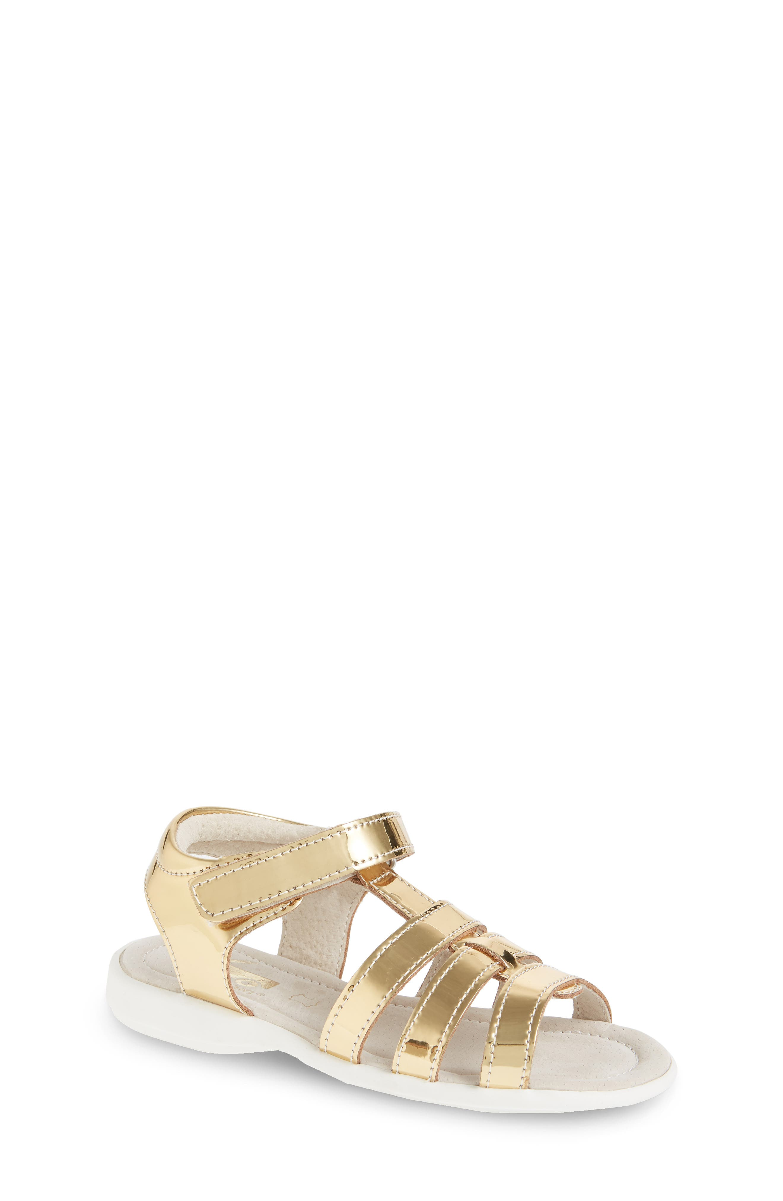 Fe Metallic Fisherman Sandal,                         Main,                         color, Gold