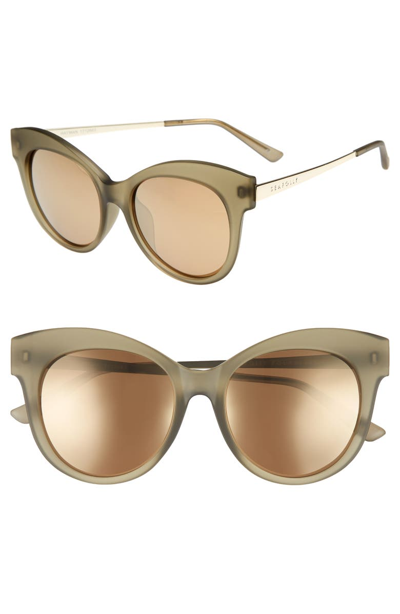 ef74466a1810 SEAFOLLY HAYMAN 53MM CAT EYE SUNGLASSES - MOSS