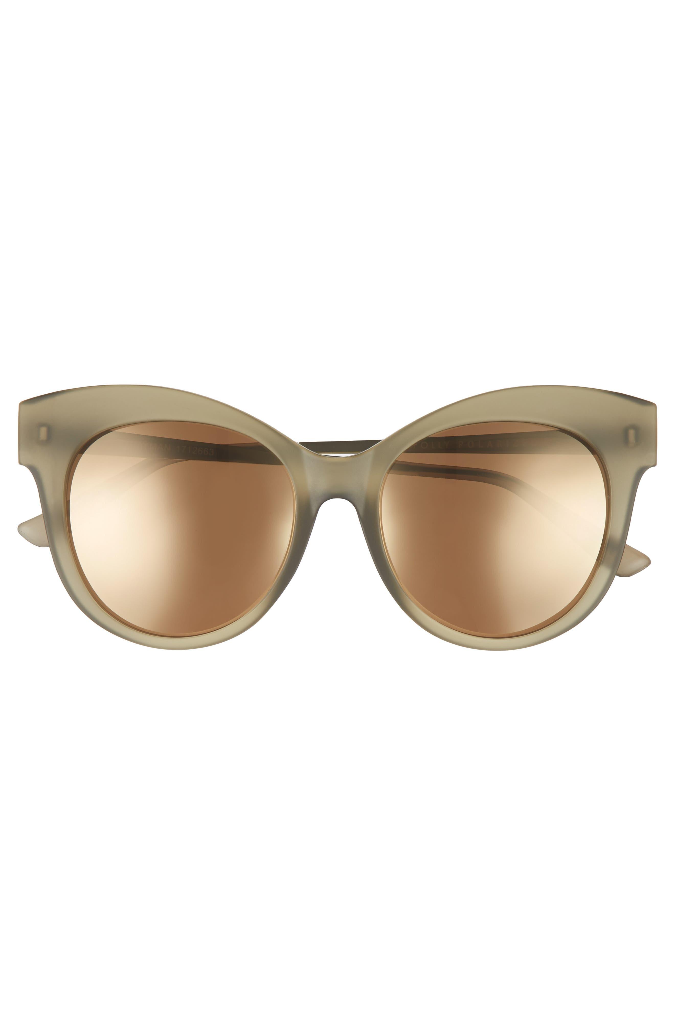 Hayman 53mm Cat Eye Sunglasses,                             Alternate thumbnail 3, color,                             Moss