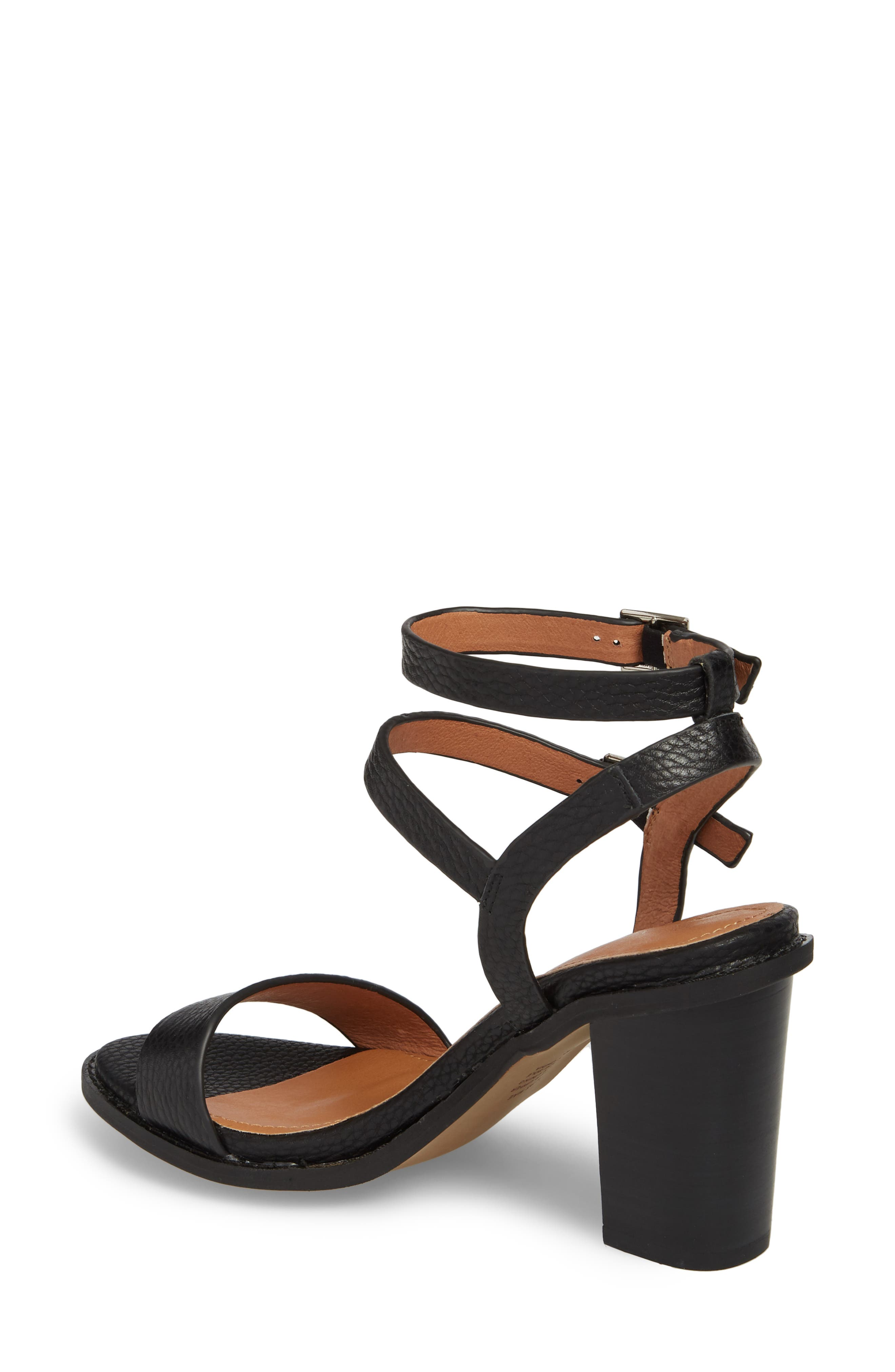 Elapse Sandal,                             Alternate thumbnail 2, color,                             Black Leather