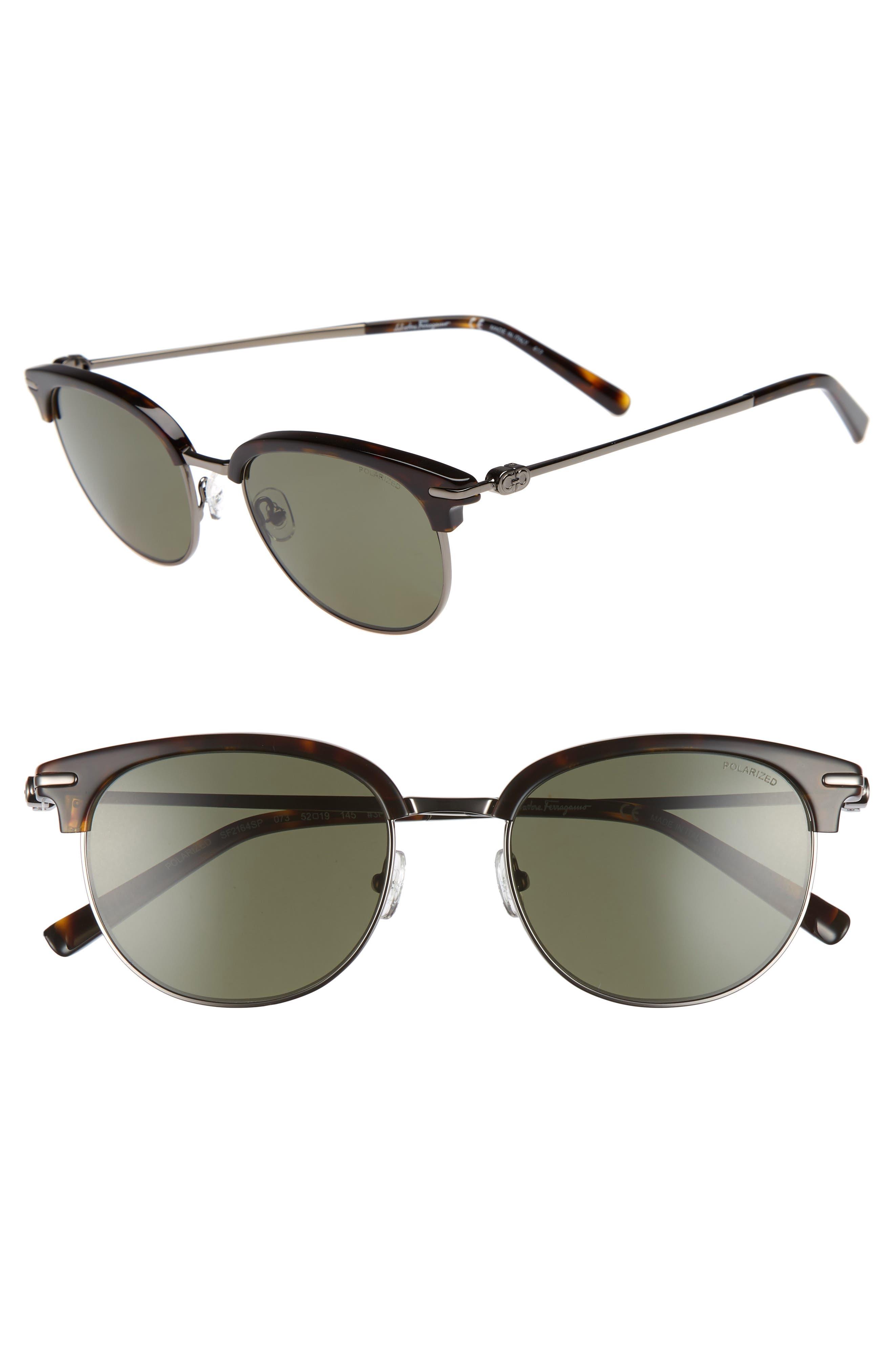 Salvatore Ferragamo Double Gancio 52mm Polarized Sunglasses