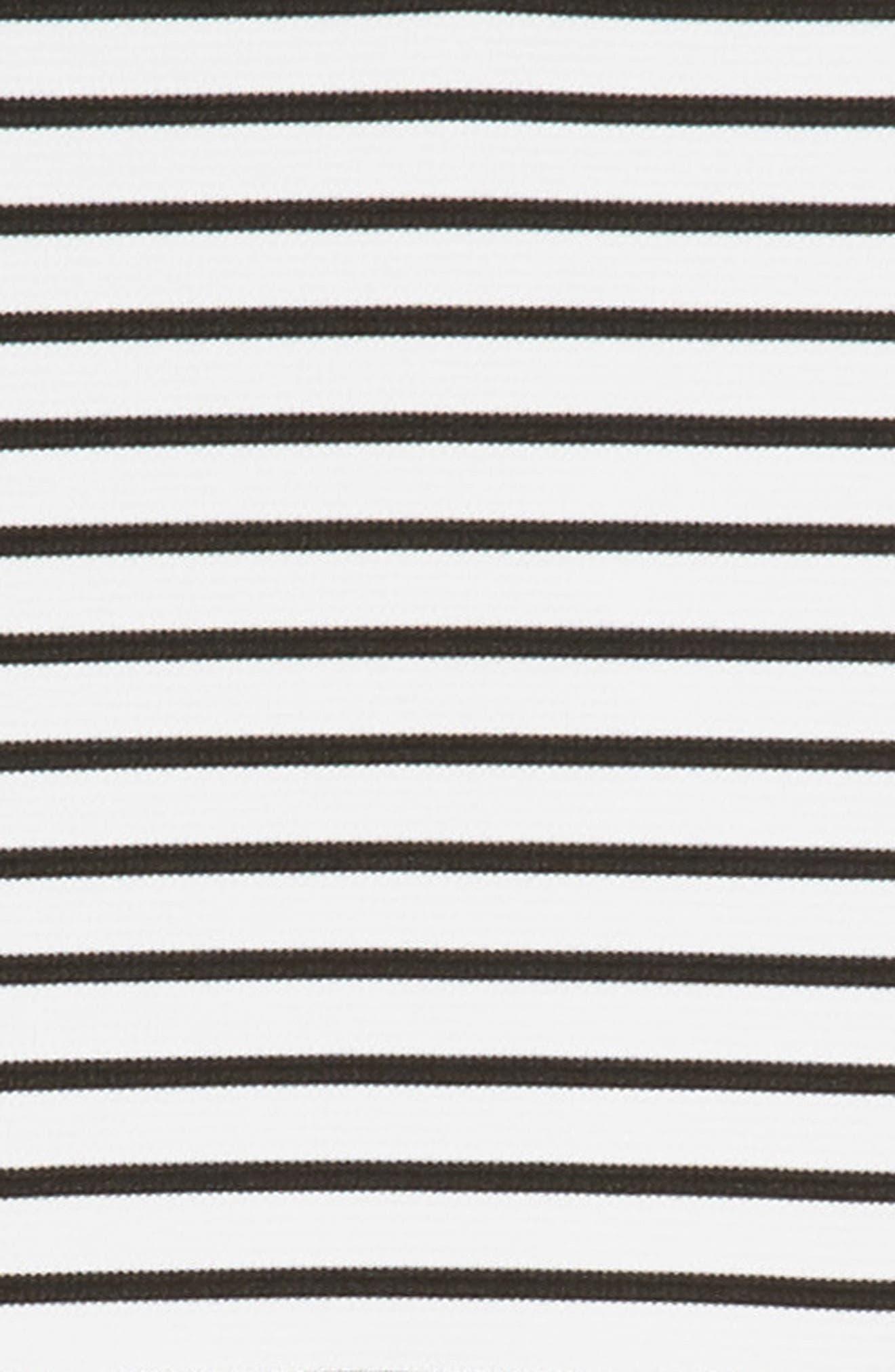 Rib Stripe Skater Dress,                             Alternate thumbnail 3, color,                             White/ Black