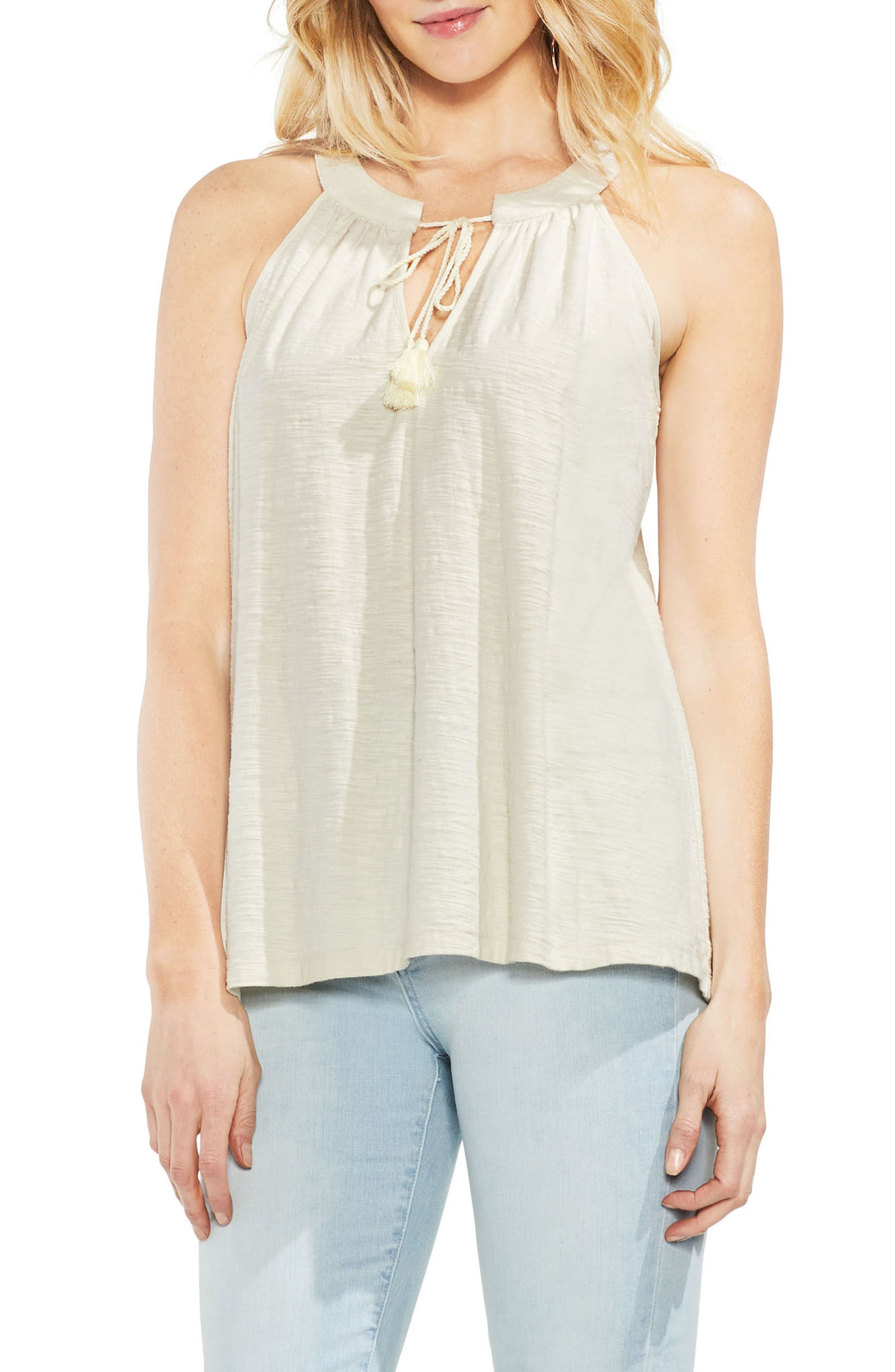 Alternate Image 1 Selected - Vince Camuto Keyhole Neck Tank Top