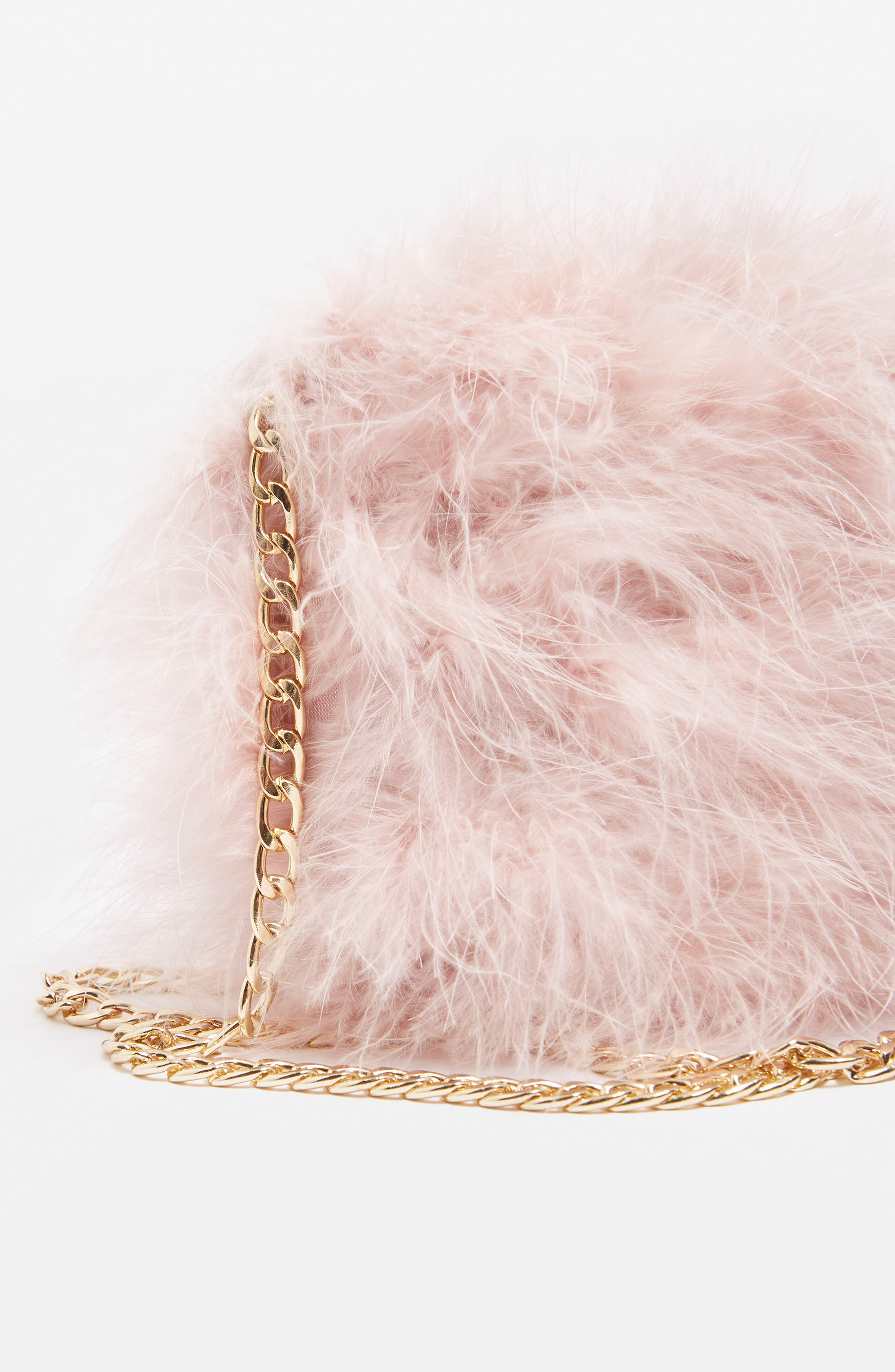 Alternate Image 4  - Topshop Riga Feather Crossbody Bag