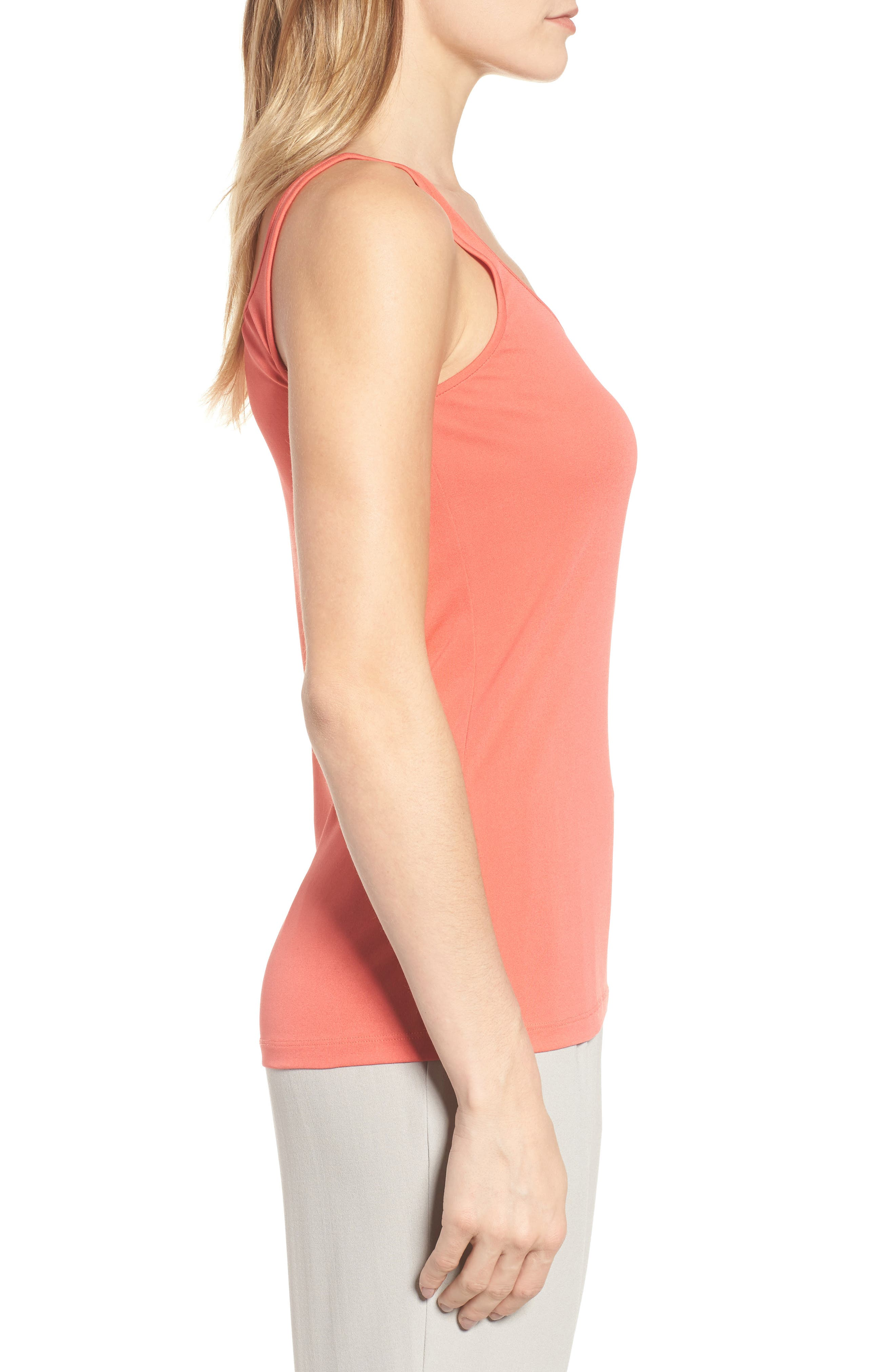 Long Scoop Neck Camisole,                             Alternate thumbnail 3, color,                             Mimosa