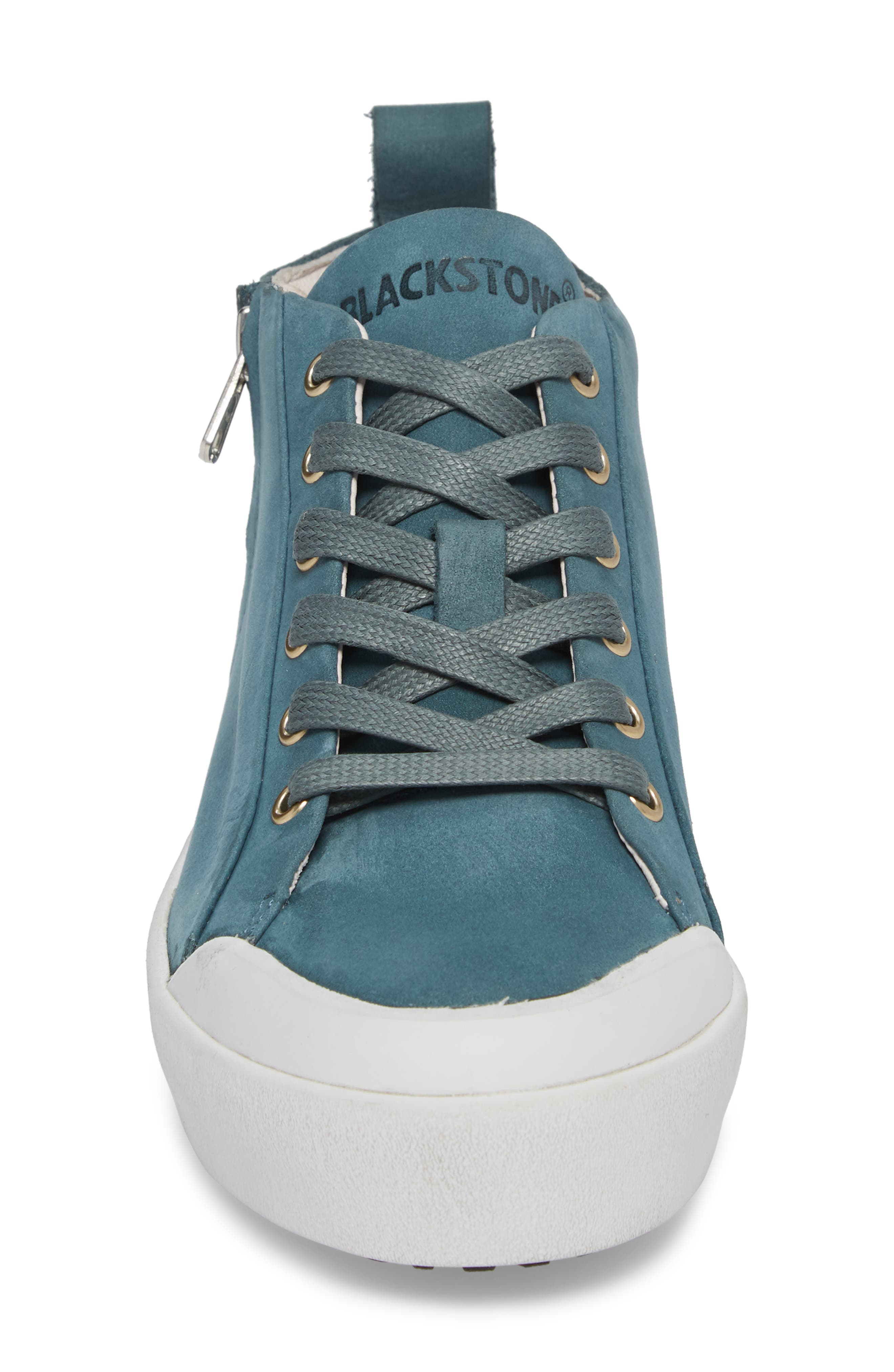 PL83 Mid Rise Sneaker,                             Alternate thumbnail 4, color,                             Mallard Blue Leather