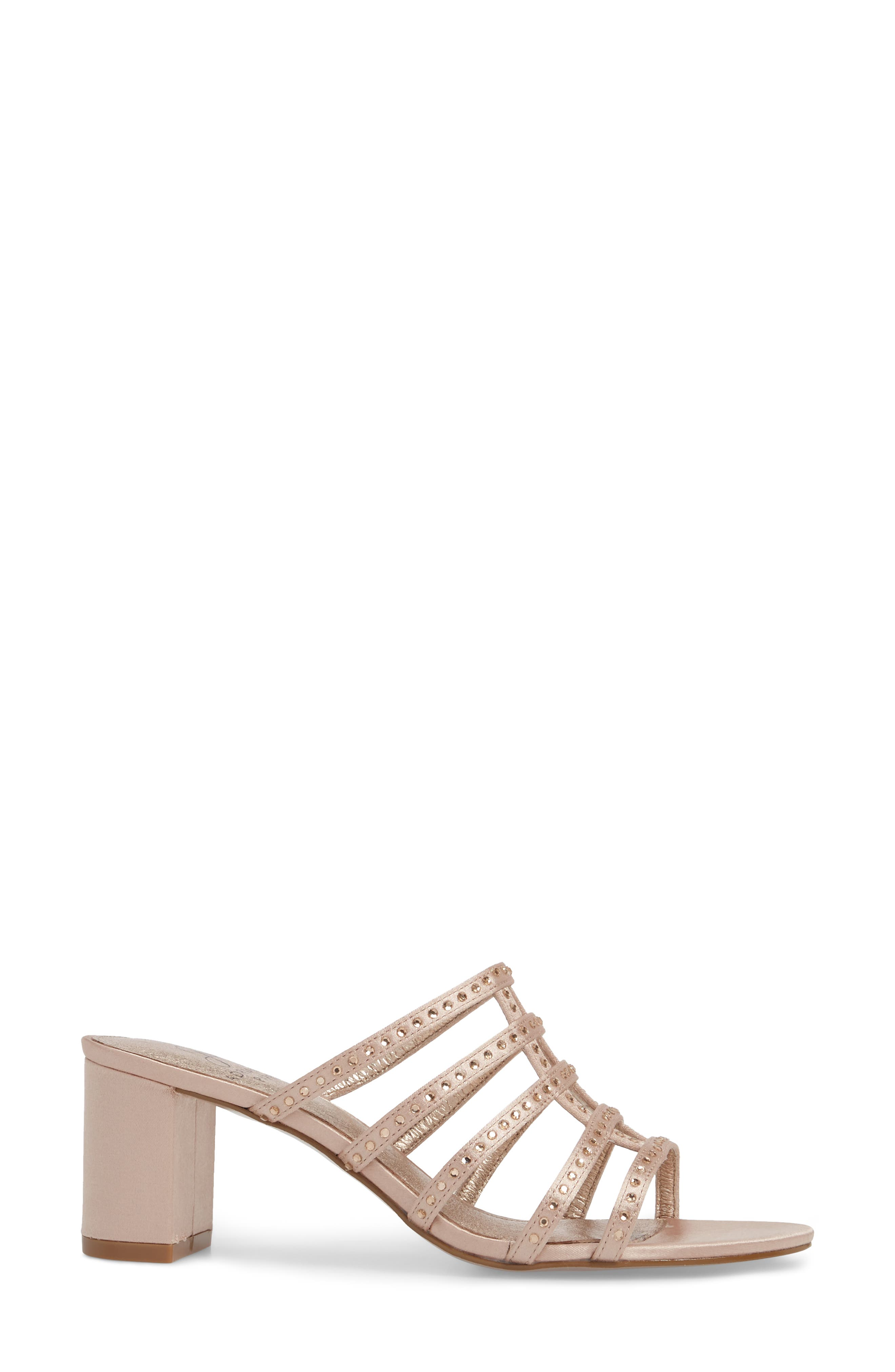 Apollo Block Heel Sandal,                             Alternate thumbnail 3, color,                             Sheer Fabric