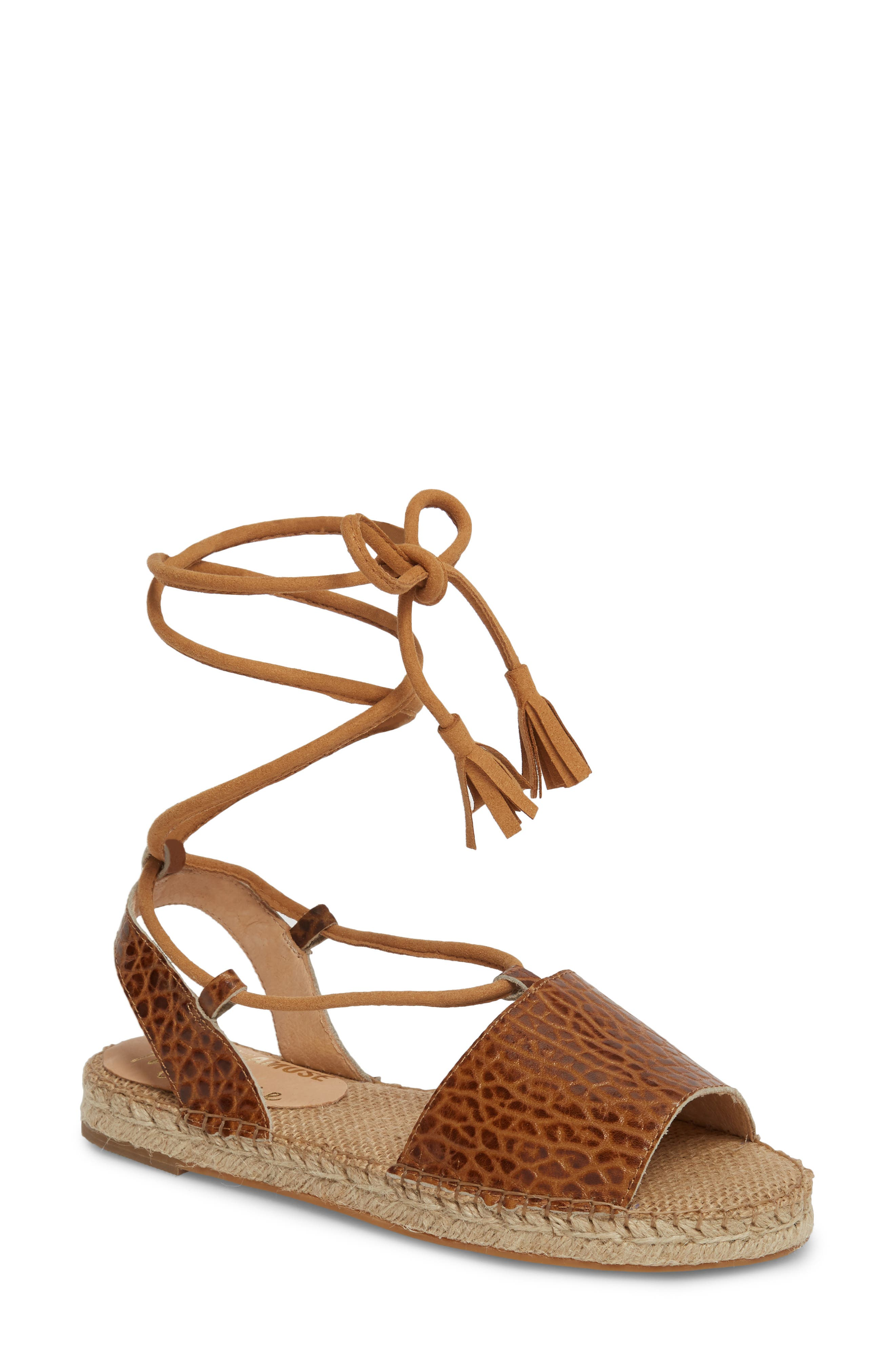 Amuse Society x Matisse La Vita Sandal,                             Main thumbnail 1, color,                             Tan Leather