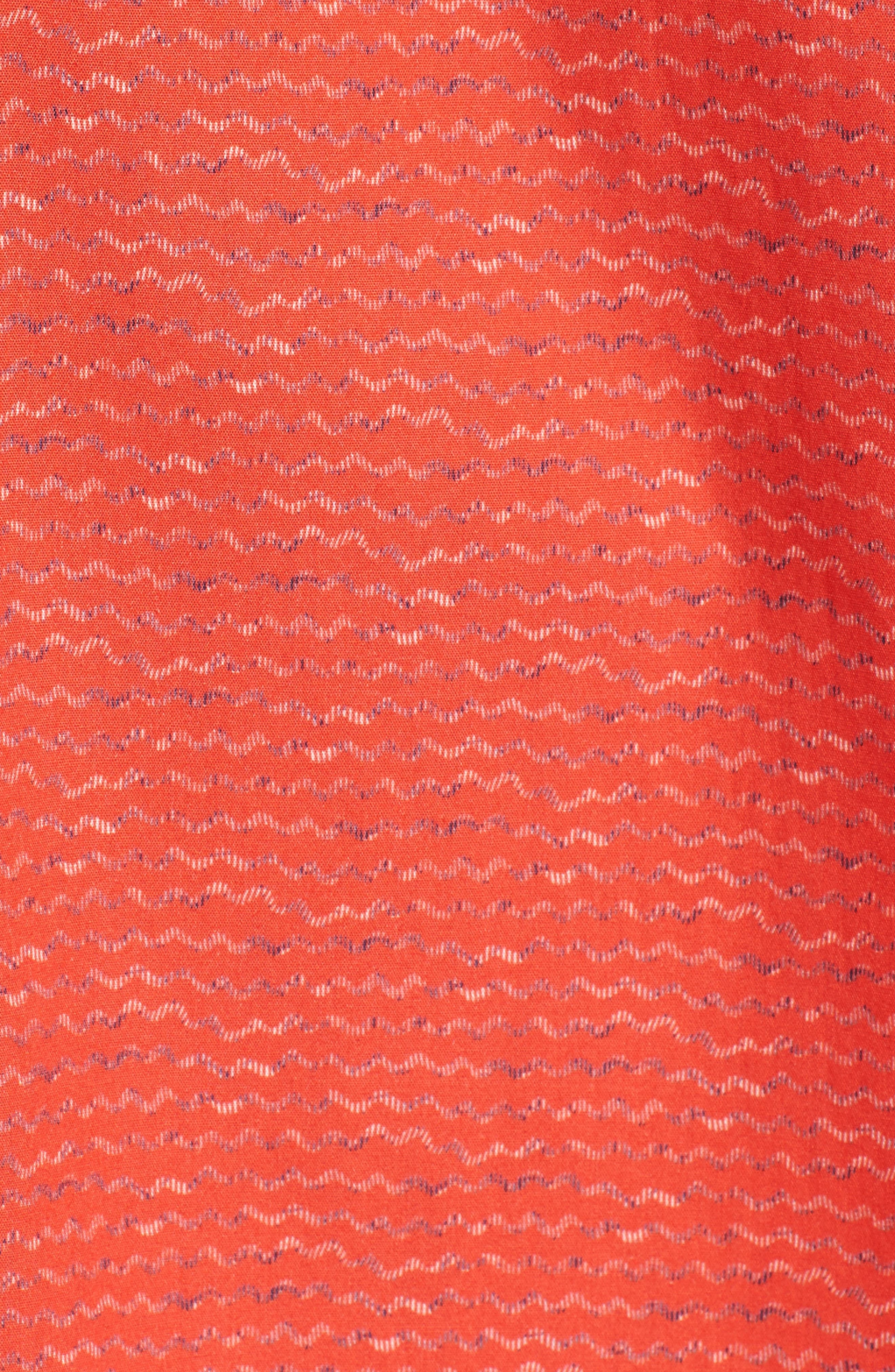 Classic Fit Woven Sport Shirt,                             Alternate thumbnail 5, color,                             Cherry