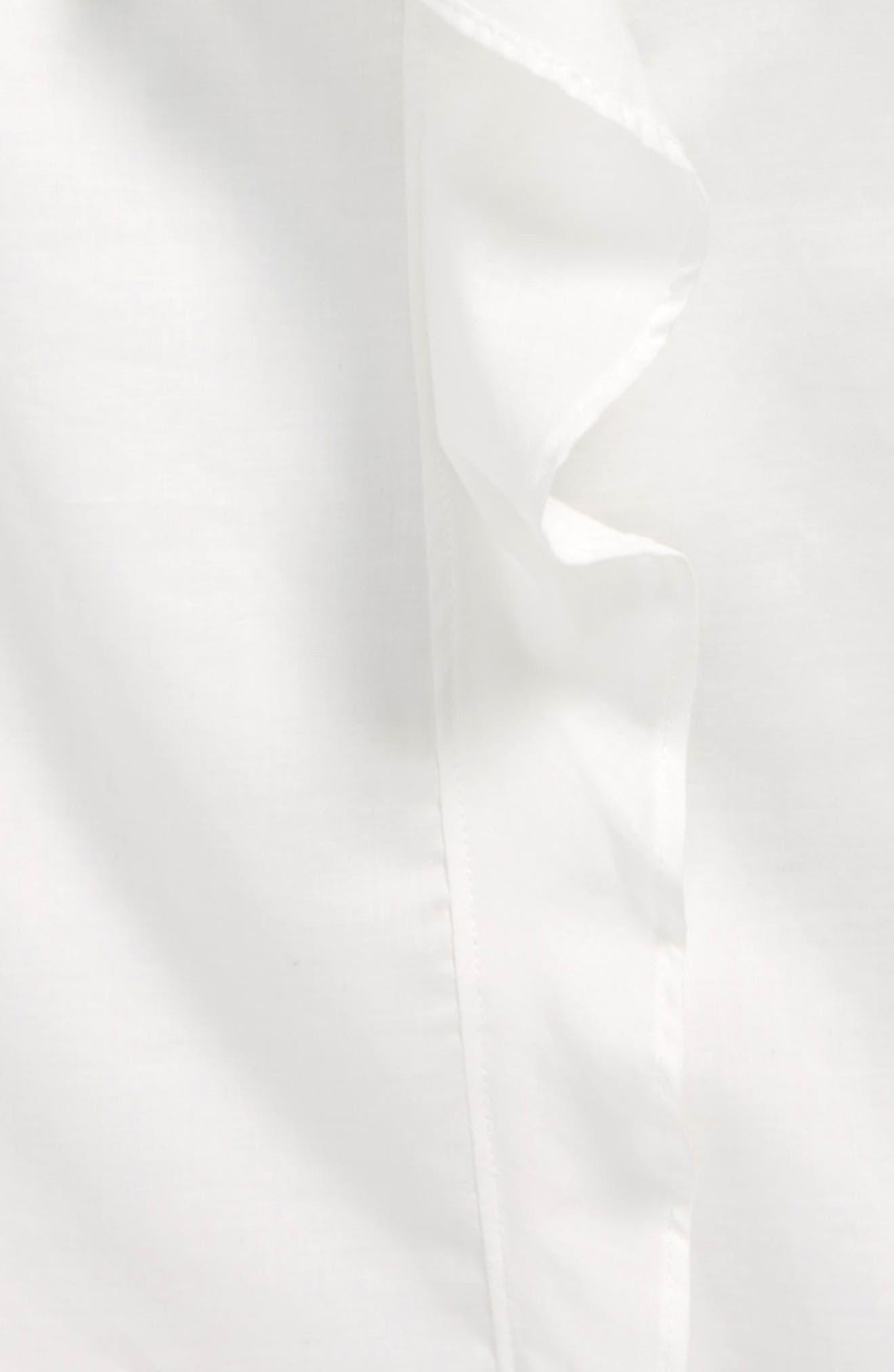 Lily Ruffle Blouse,                             Alternate thumbnail 2, color,                             White