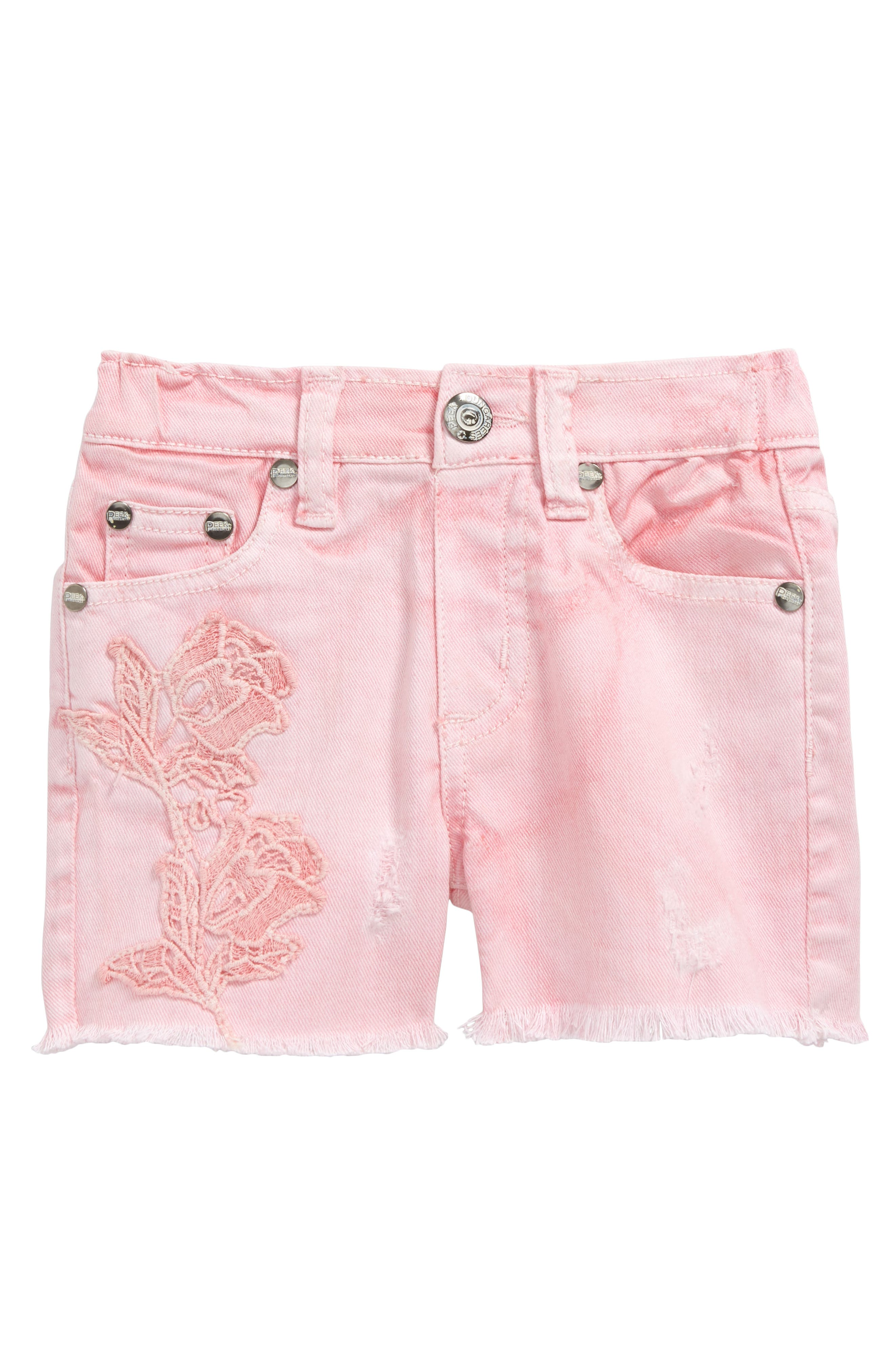 Peek Griffin Cutoff Denim Shorts (Baby Girls)