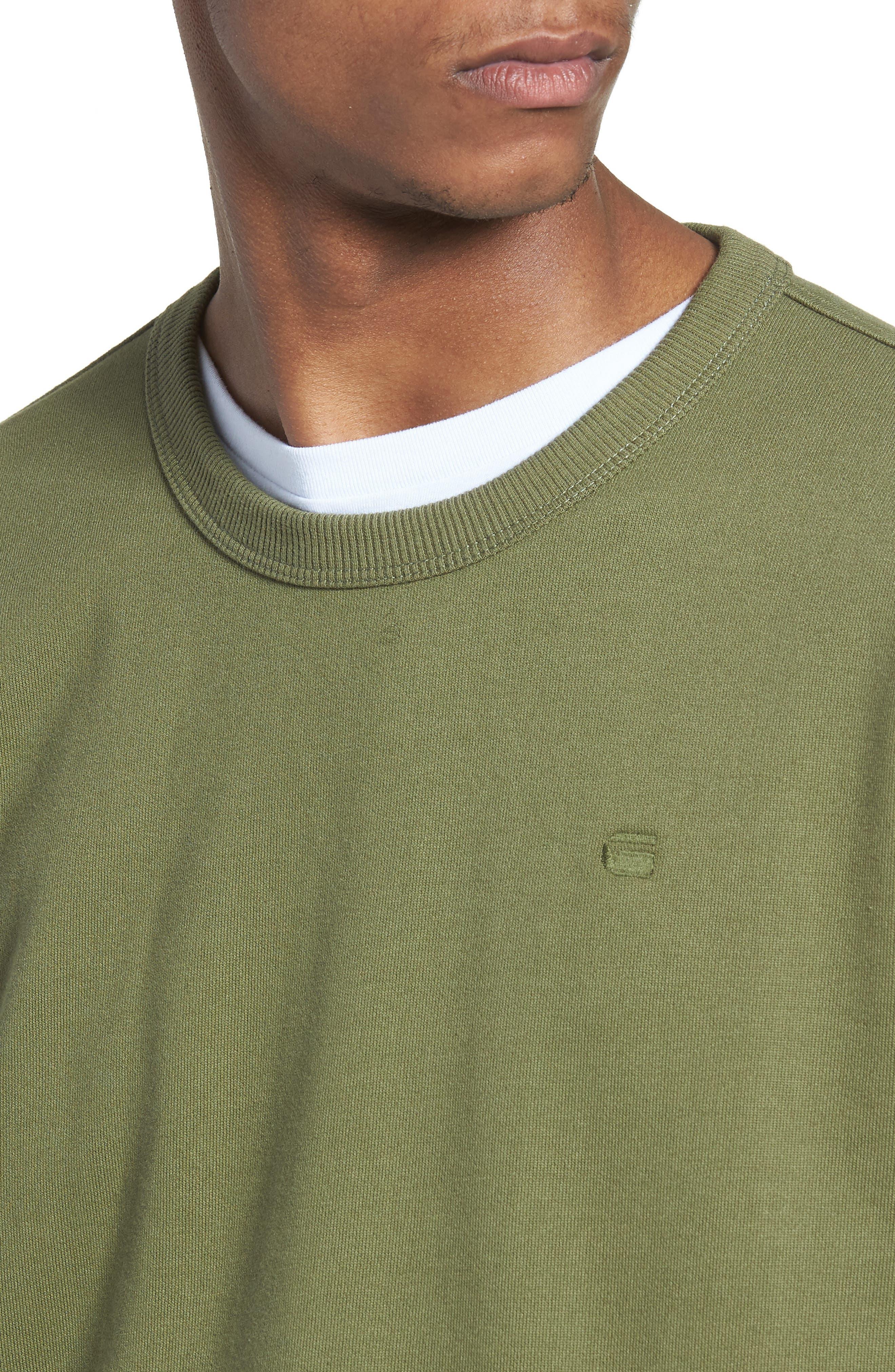 Core Hybrid Archive Sweatshirt,                             Alternate thumbnail 4, color,                             Sage