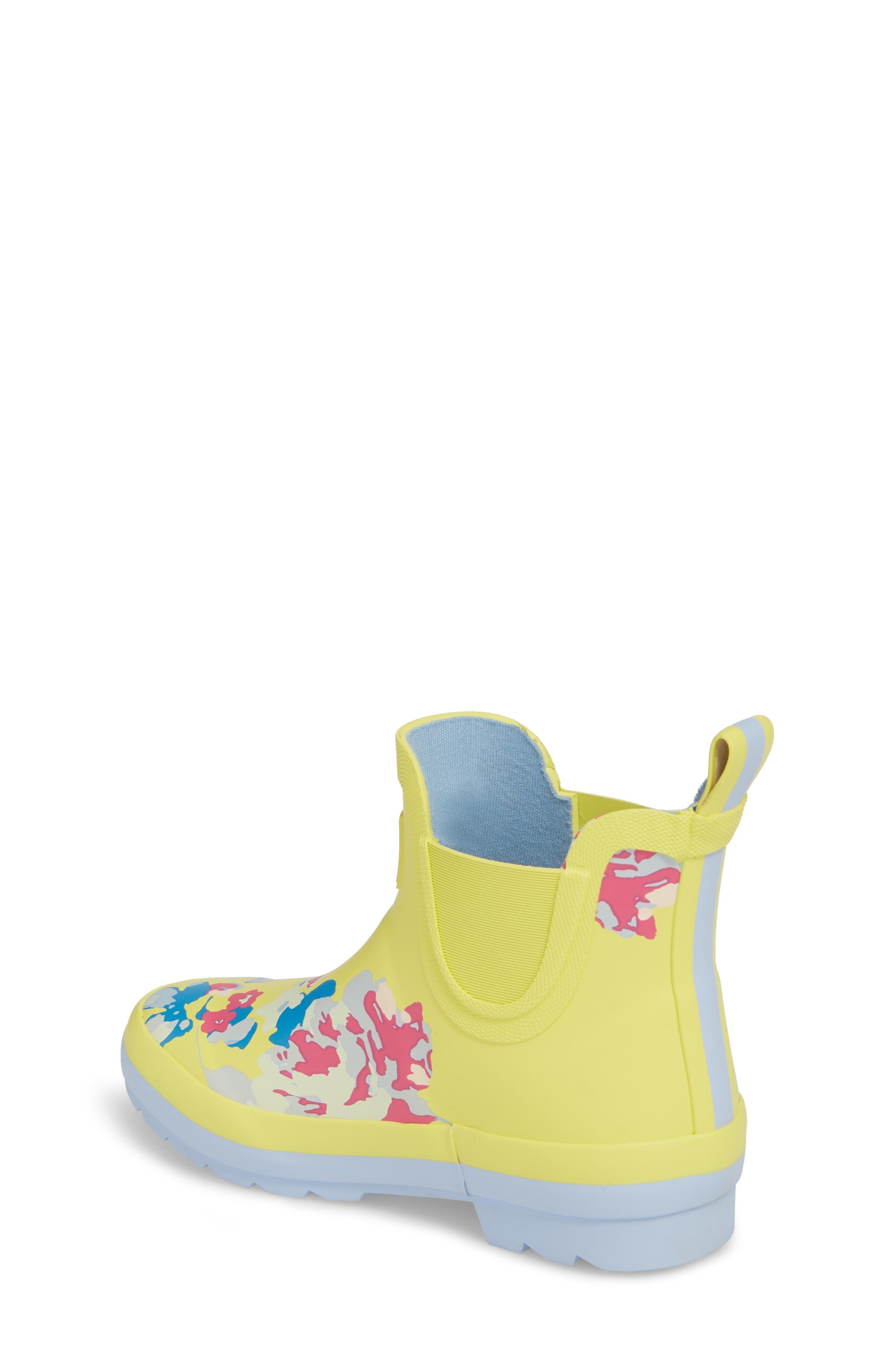 Print Rain Boot,                             Alternate thumbnail 2, color,                             Yellow Margate Floral
