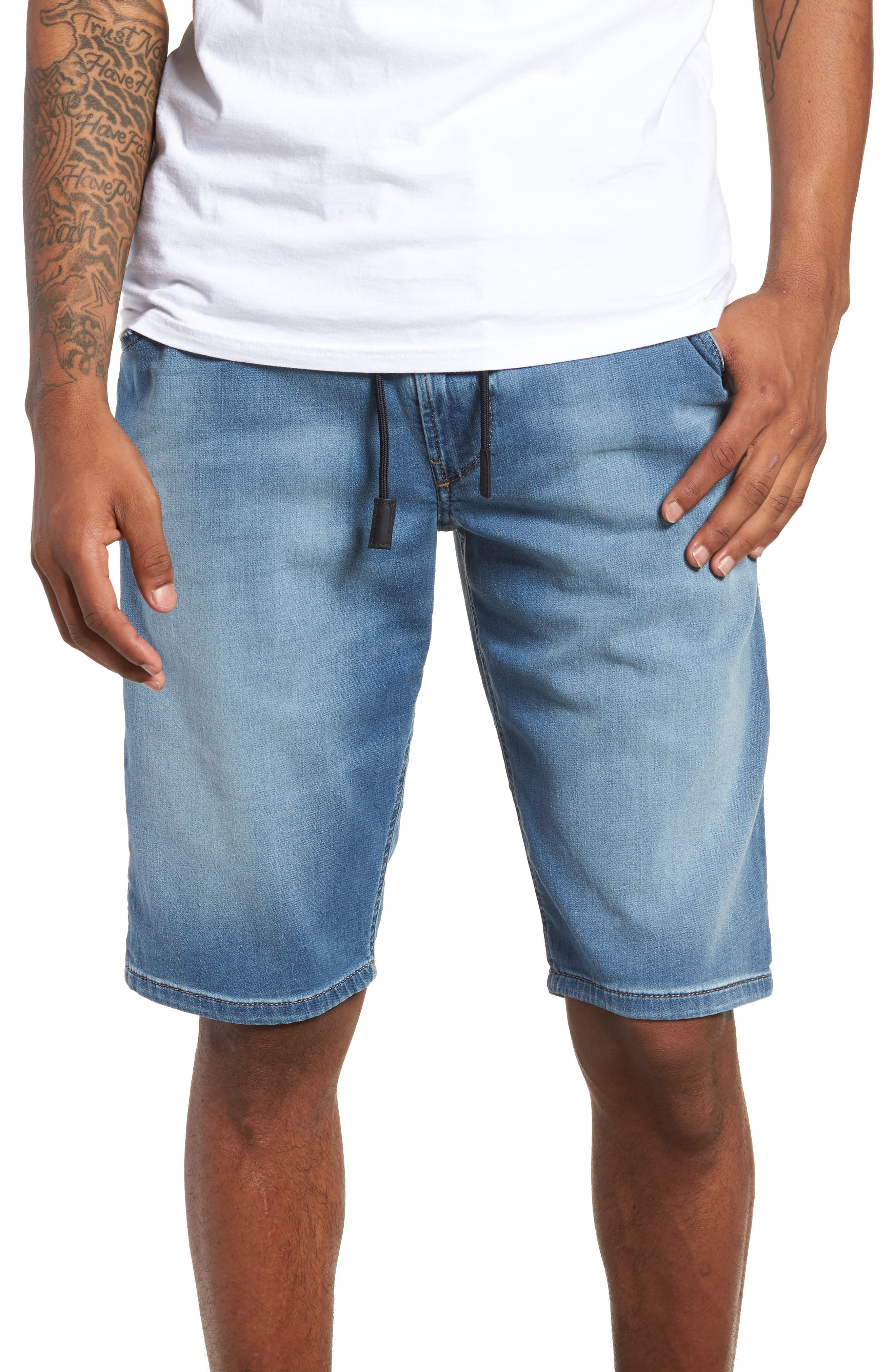 Krooshort Denim Shorts,                         Main,                         color, Denim