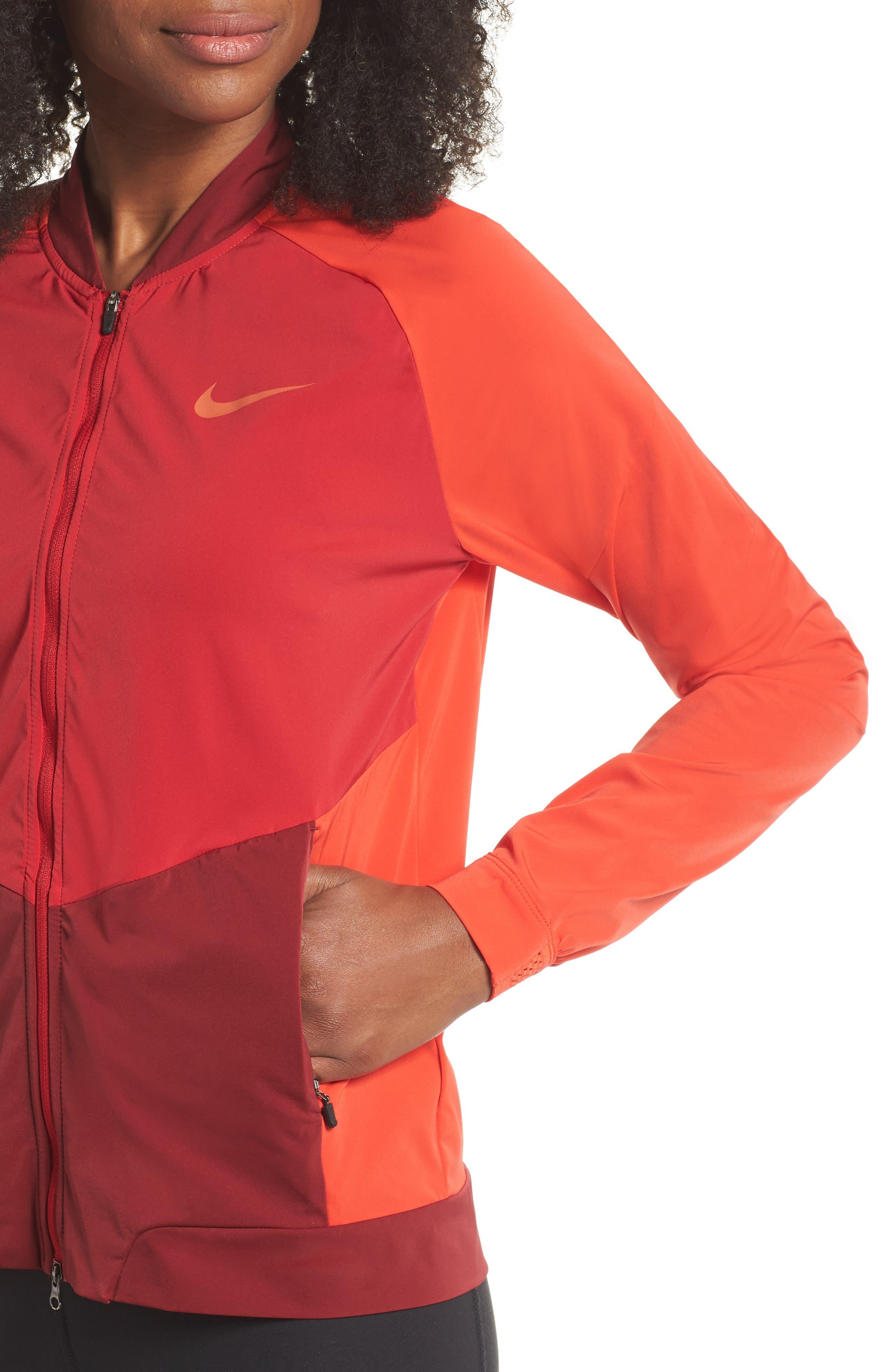 Dry Stadium Jacket,                             Alternate thumbnail 4, color,                             Habanero Red/ Coral