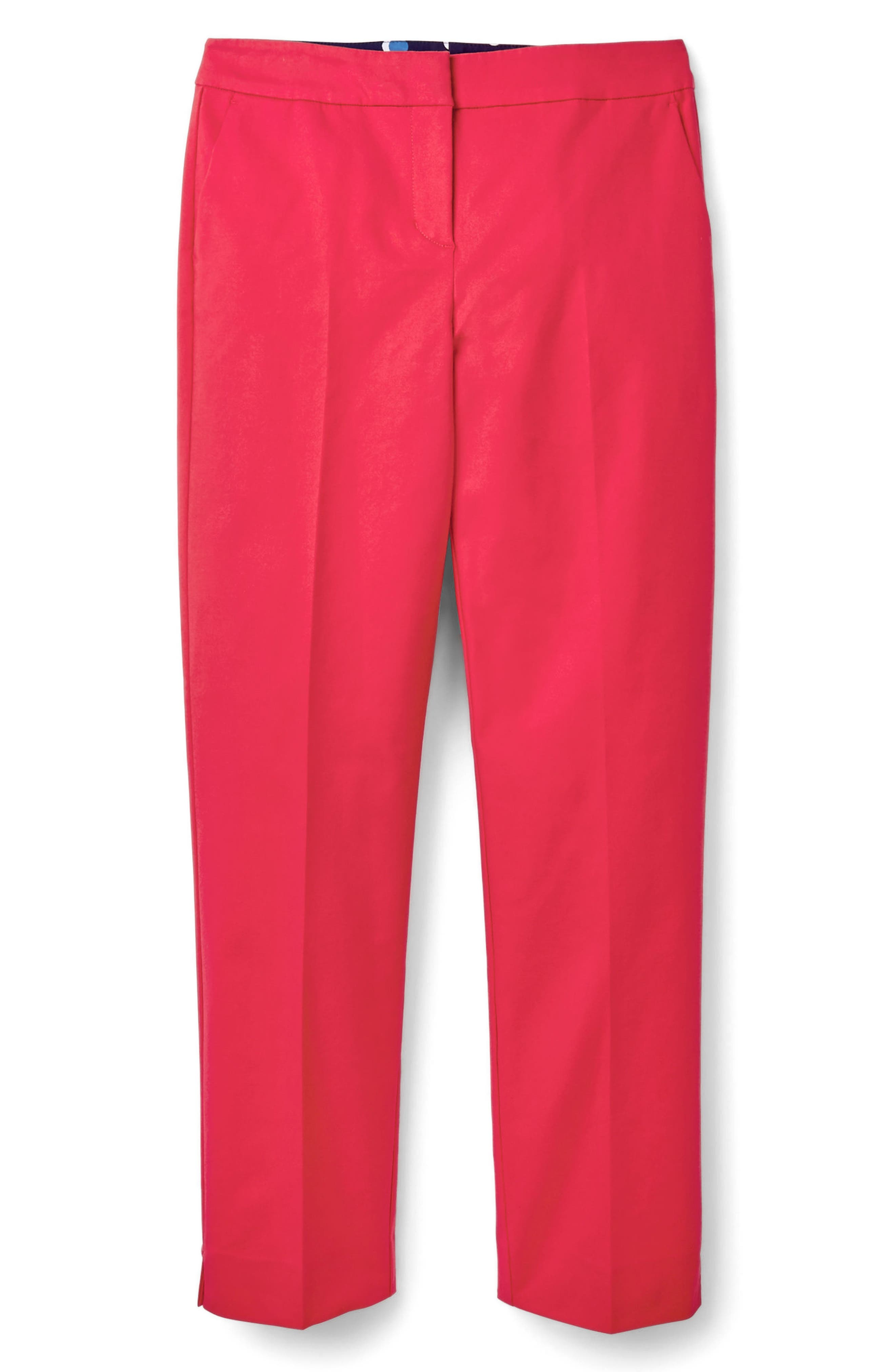 Richmond Polka Dot Stripe Contrast Ankle Pants,                             Alternate thumbnail 3, color,                             Hibiscus