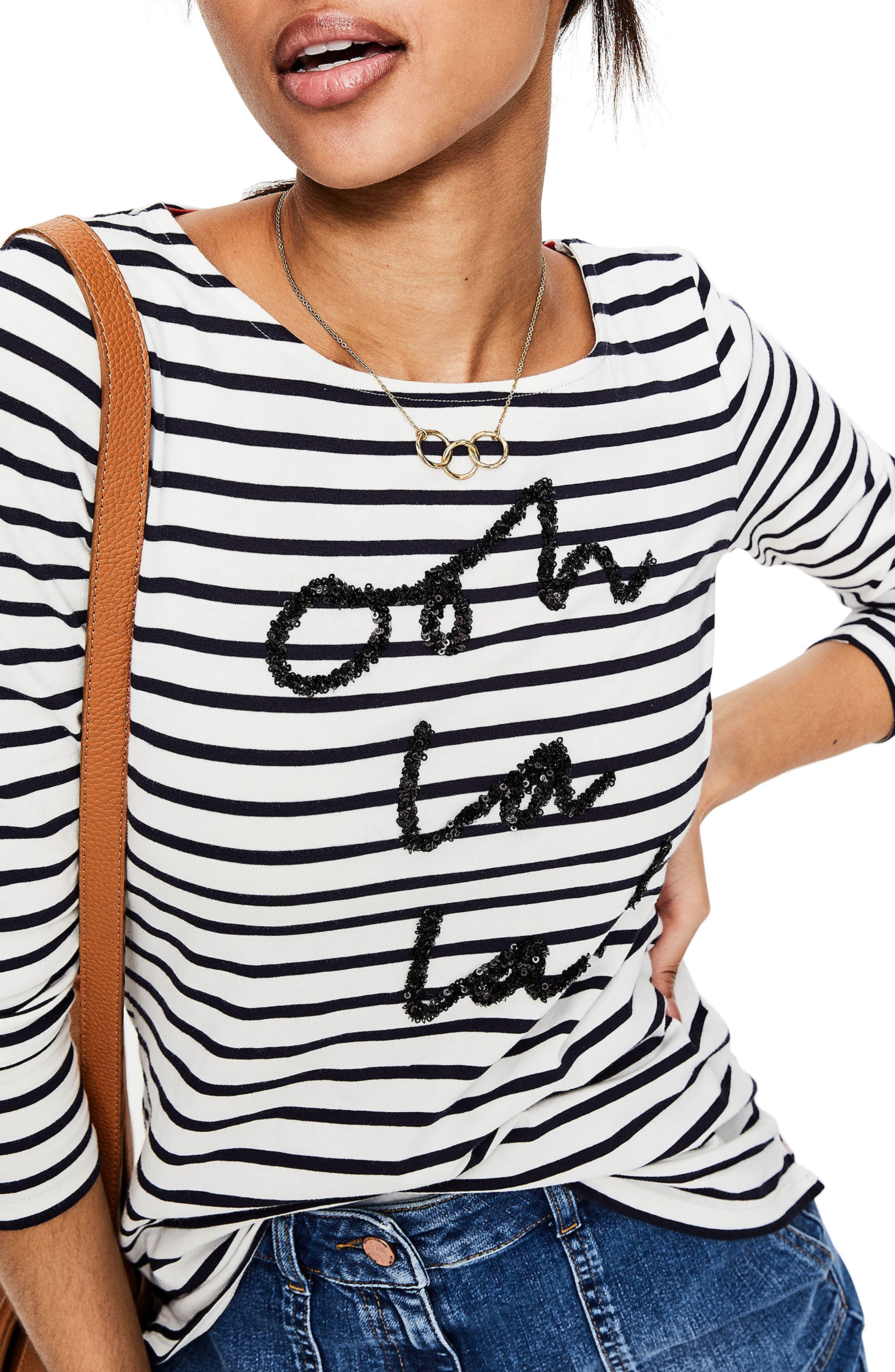 Make a Statement Stripe Top,                             Main thumbnail 1, color,                             Oh La La Sequins