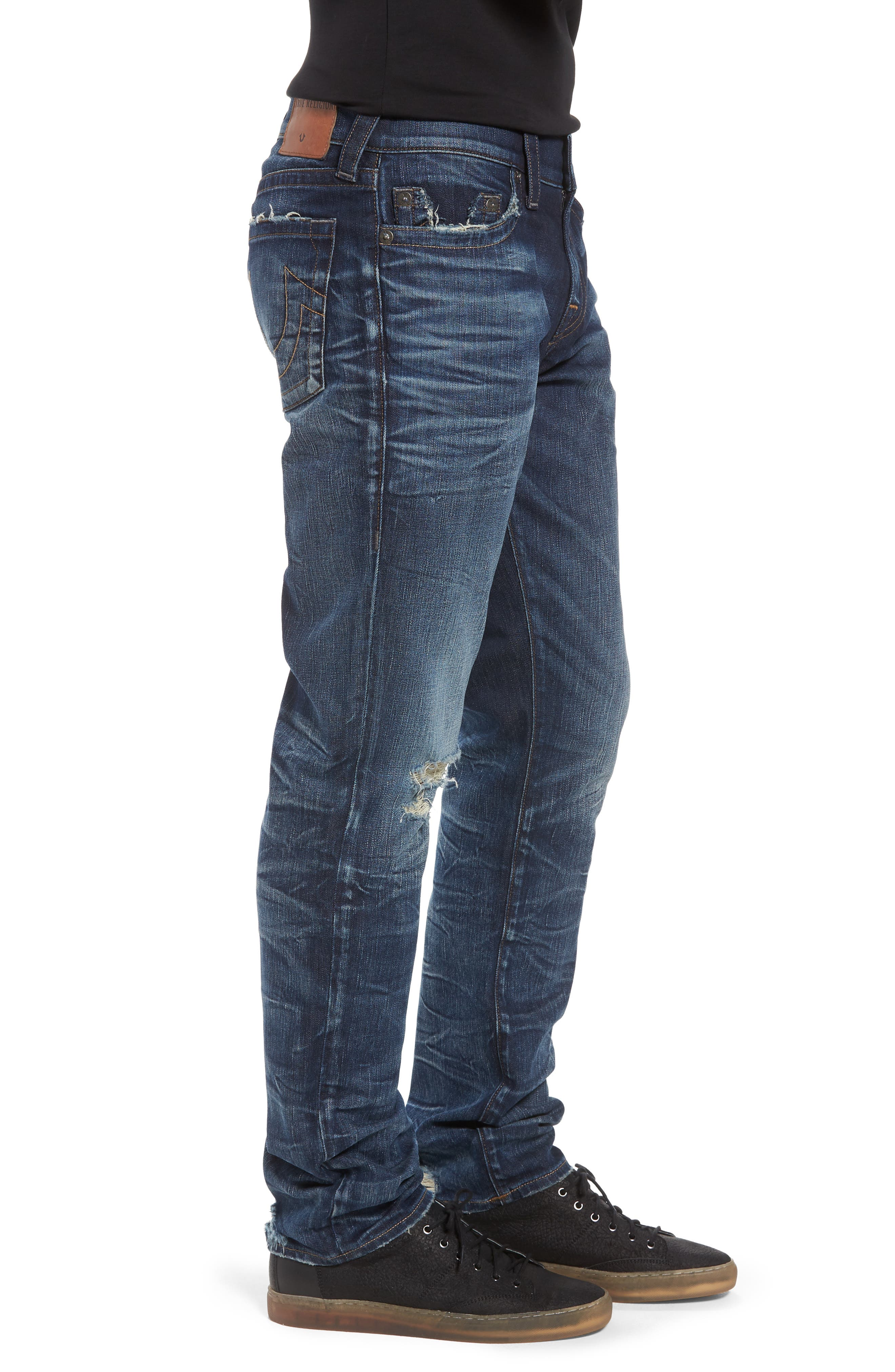 Geno Straight Leg Jeans,                             Alternate thumbnail 3, color,                             Combat Blue