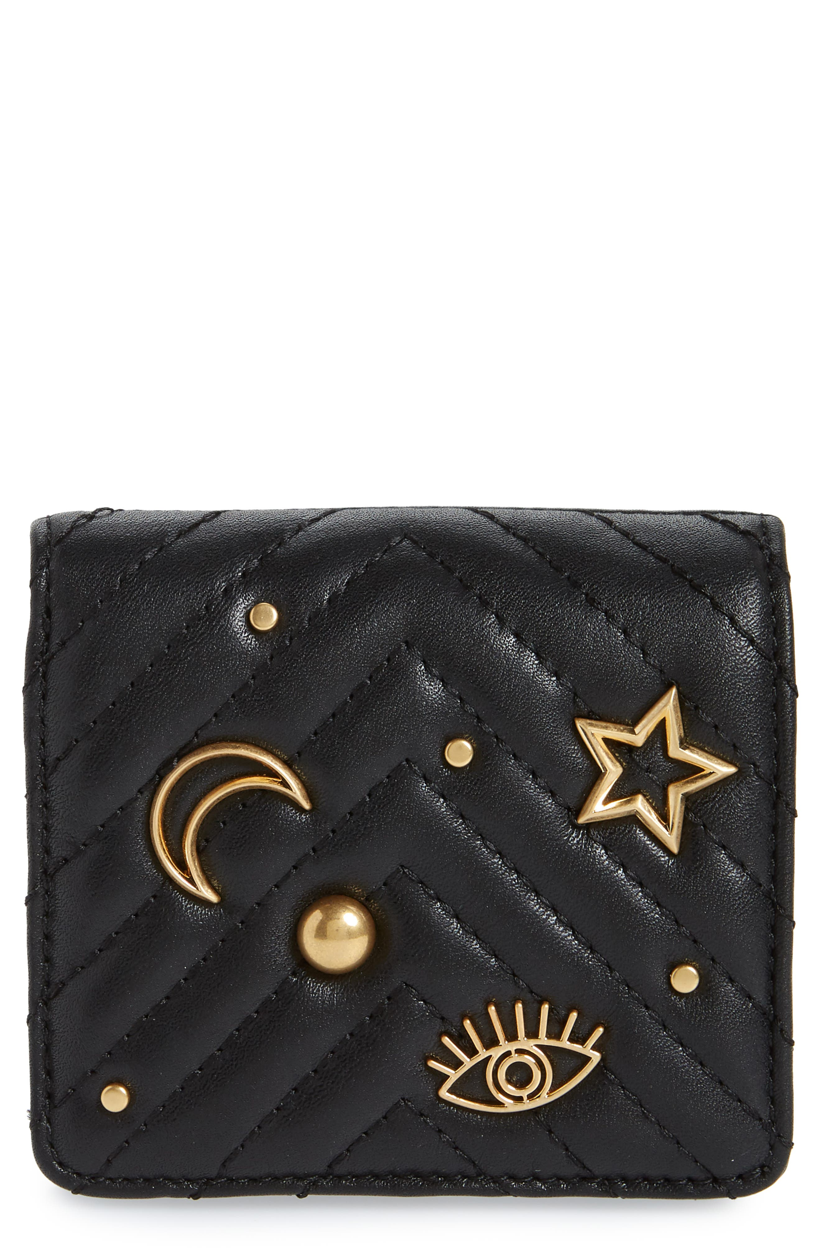 Rebecca Minkoff Half Snap Calfskin Leather Wallet