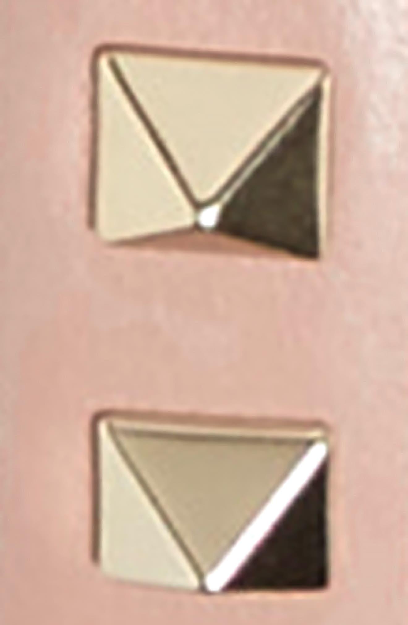Rockstud Leather Belt,                             Alternate thumbnail 2, color,                             Poudre