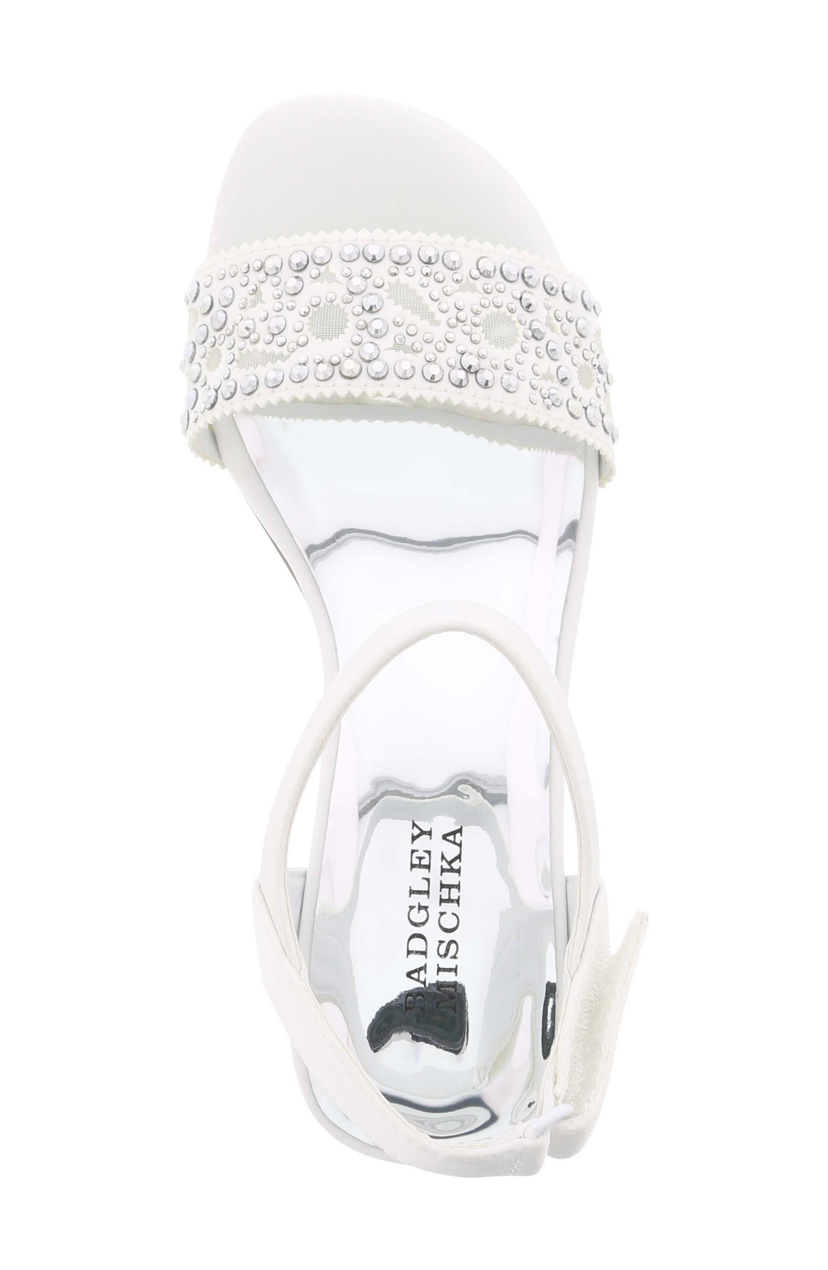 Ascot Gems Sandal,                             Alternate thumbnail 5, color,                             White