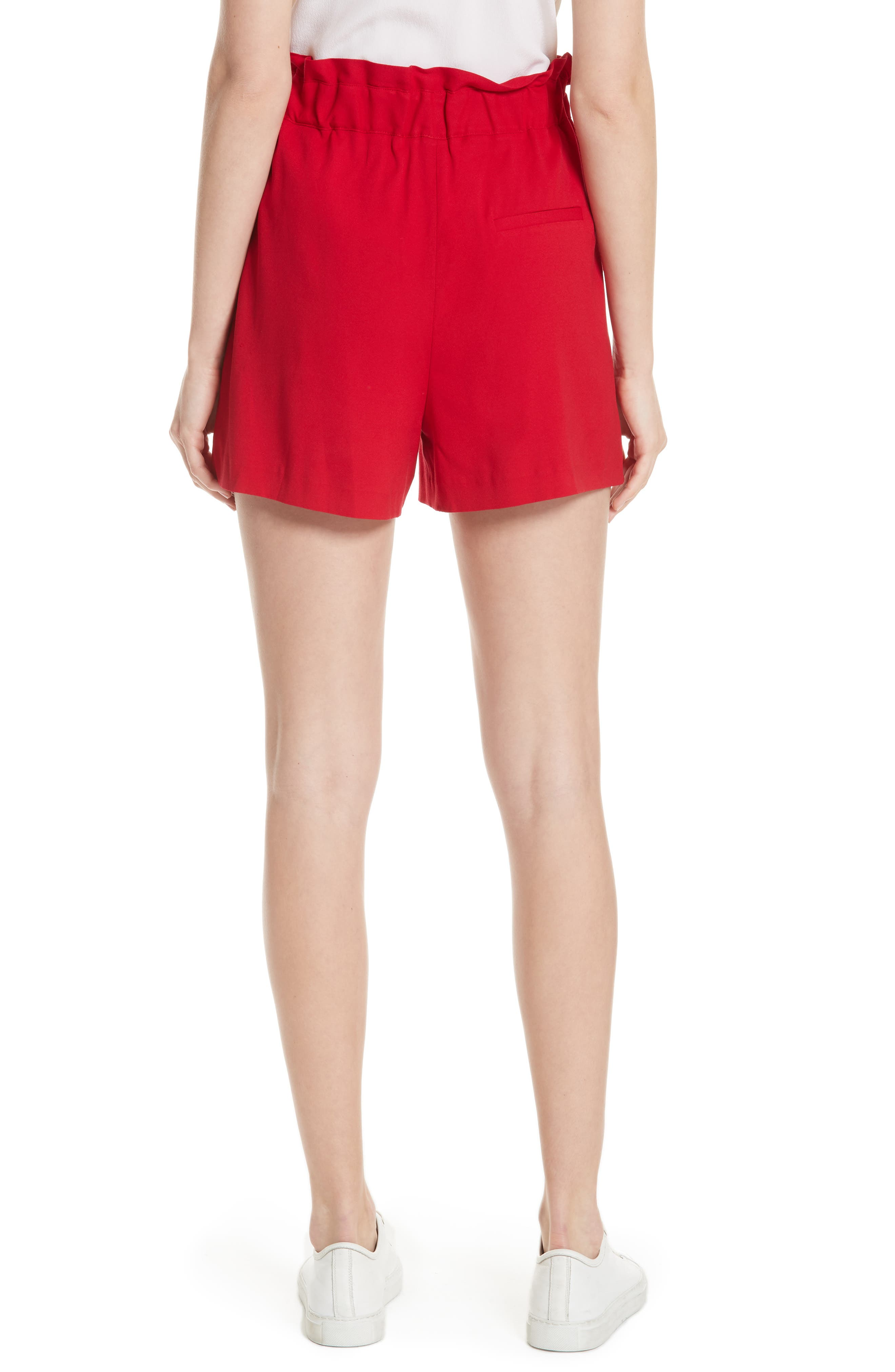 Iona Paperbag Shorts,                             Alternate thumbnail 2, color,                             Red